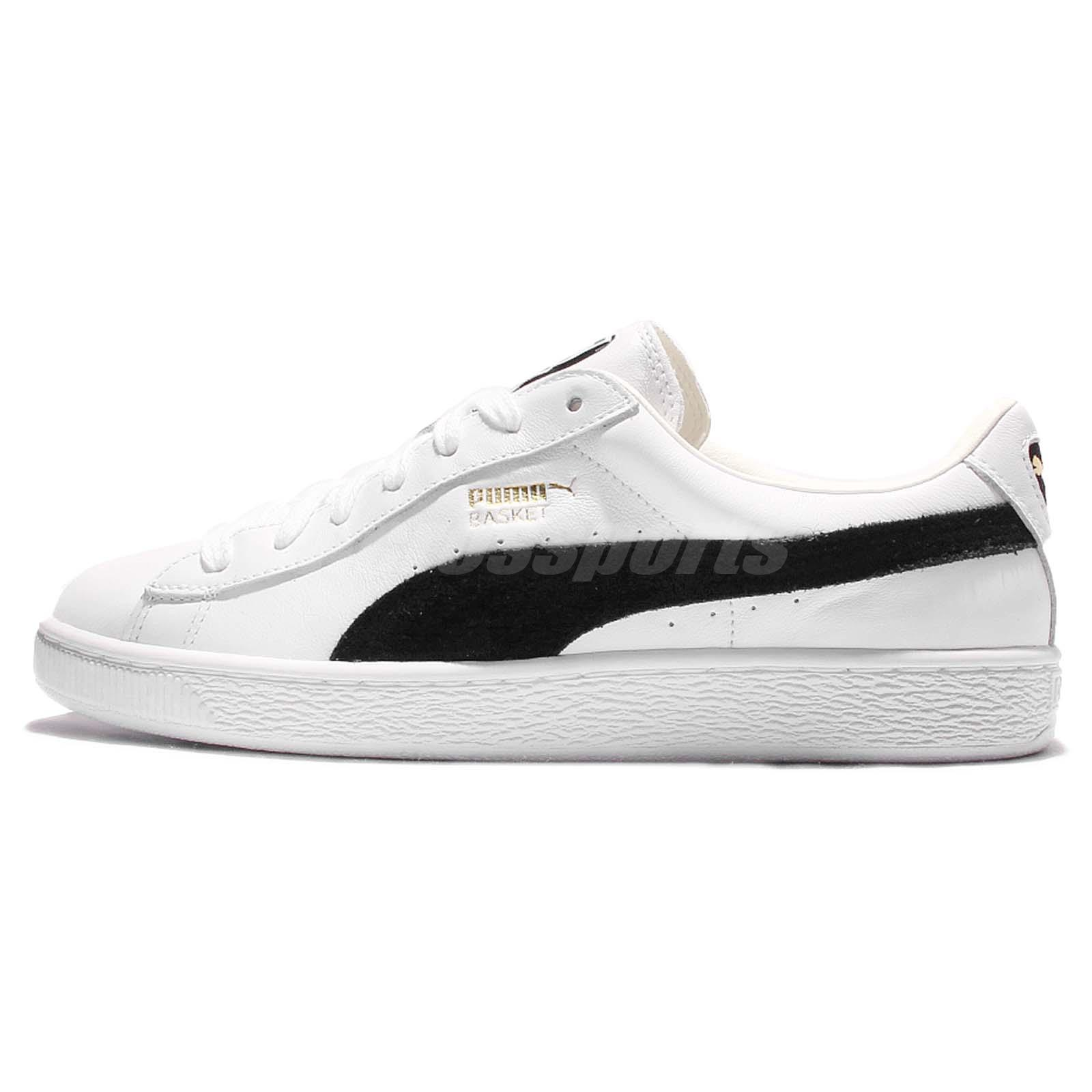 25af8f98f825 Puma Basket Classic White Black Mens Casual Shoes Sneakers Trainers  351912-03