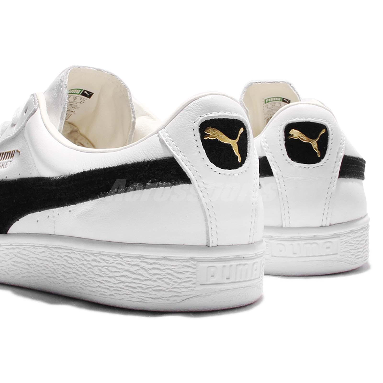 puma basket classic white beige