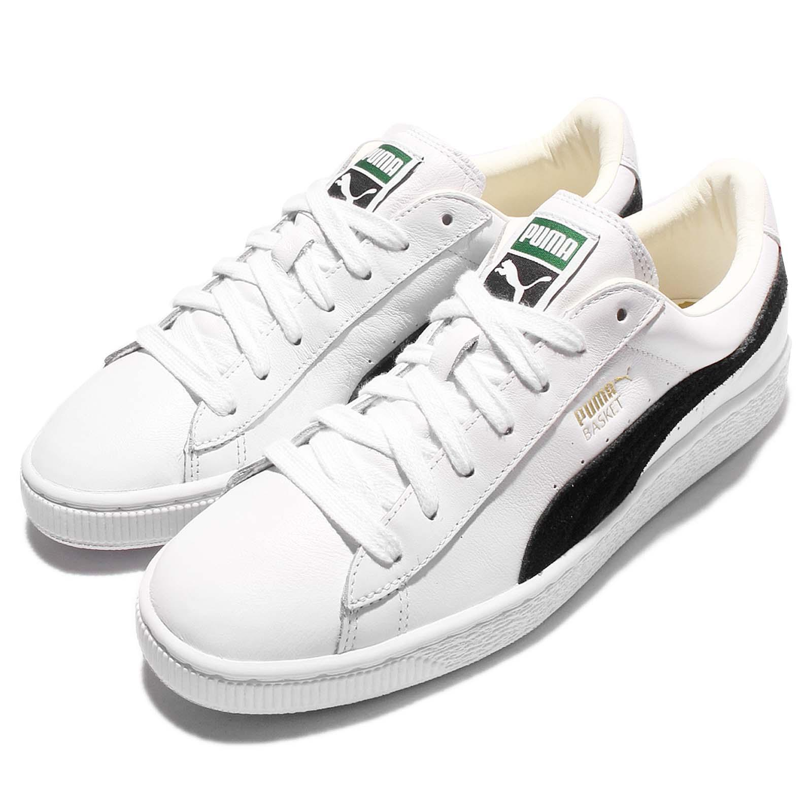 Détails sur Puma Basket Classic White Black Mens Casual Shoes Sneakers Trainers 351912 03