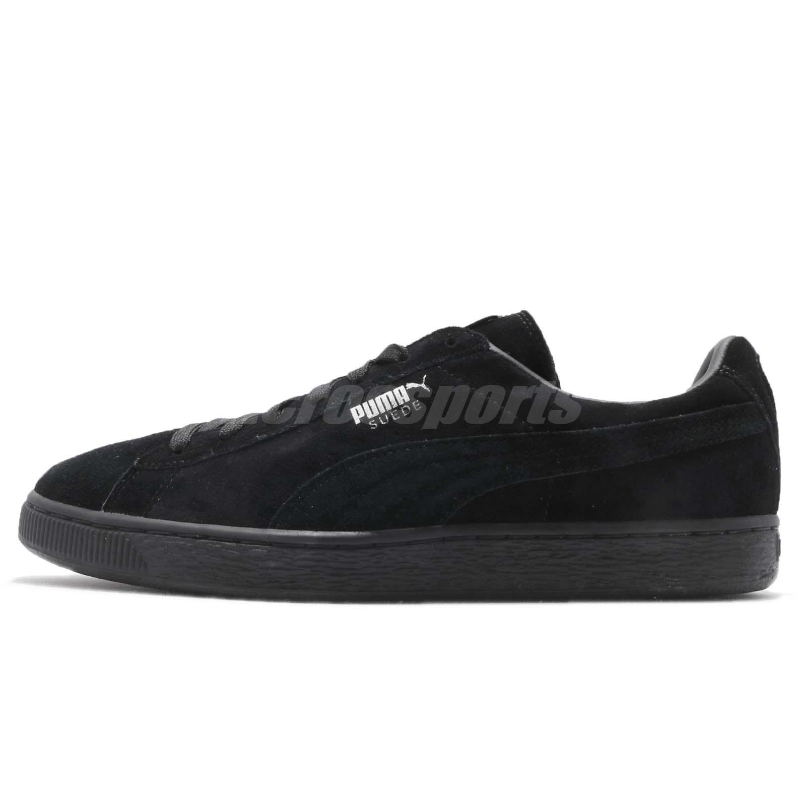 a1ec44b6f5cfd Puma Suede Classic Black Dark Shadow Men Casual Shoes Sneakers 352634-77