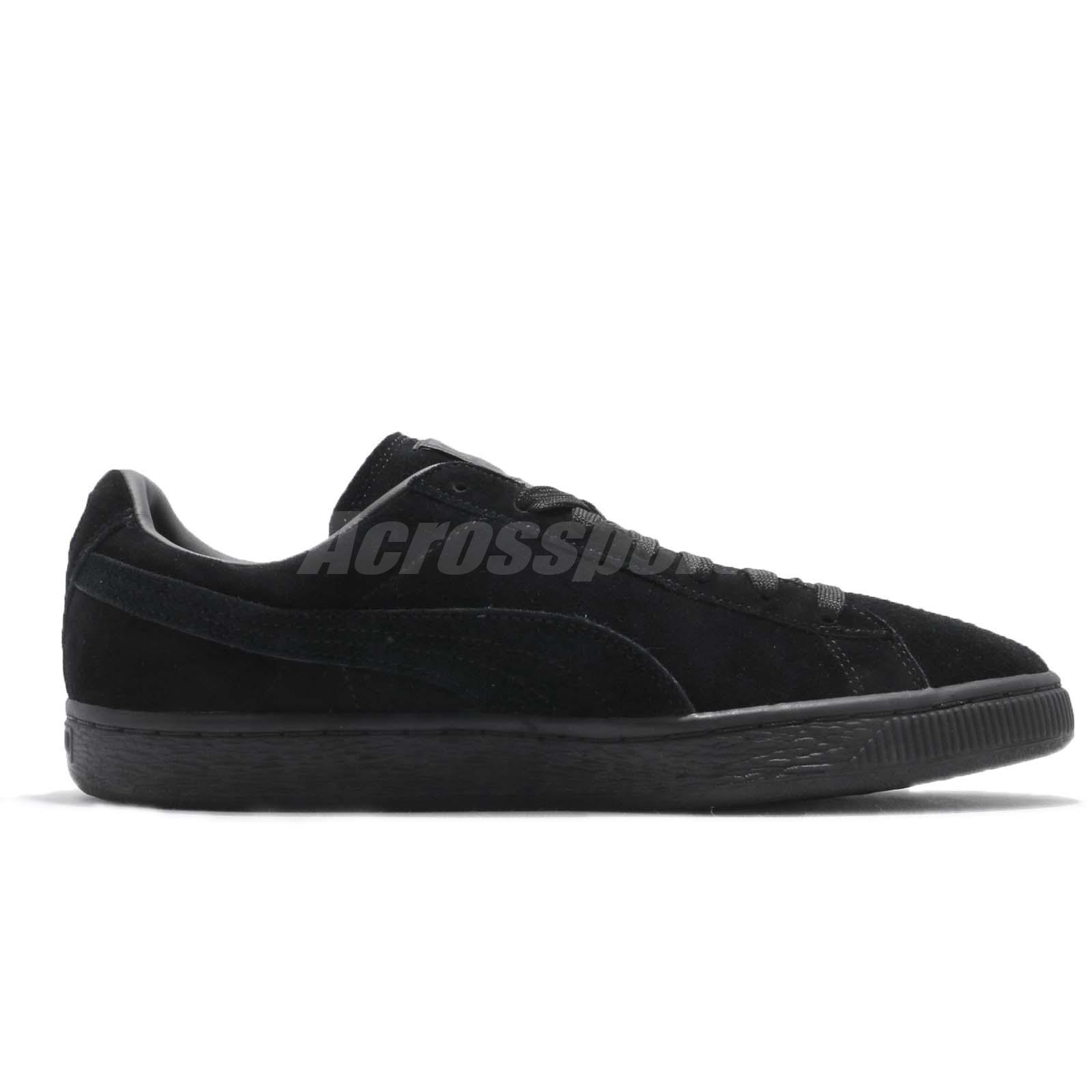 5dcdb82120357 Puma Suede Classic Black Dark Shadow Men Casual Shoes Sneakers ...