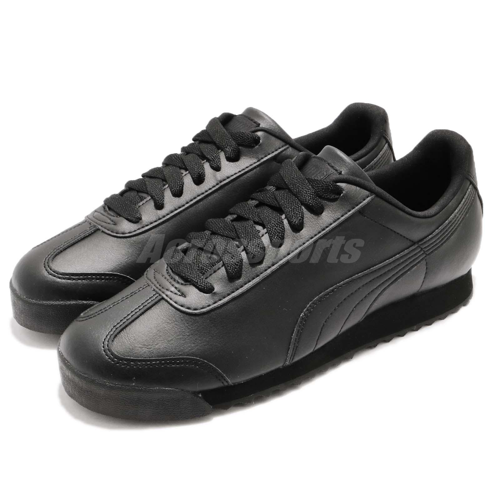 3a0345986079 Details about Puma Roma Basic Triple Black Men Running Walking Casual Shoes  Sneakers 353572-17