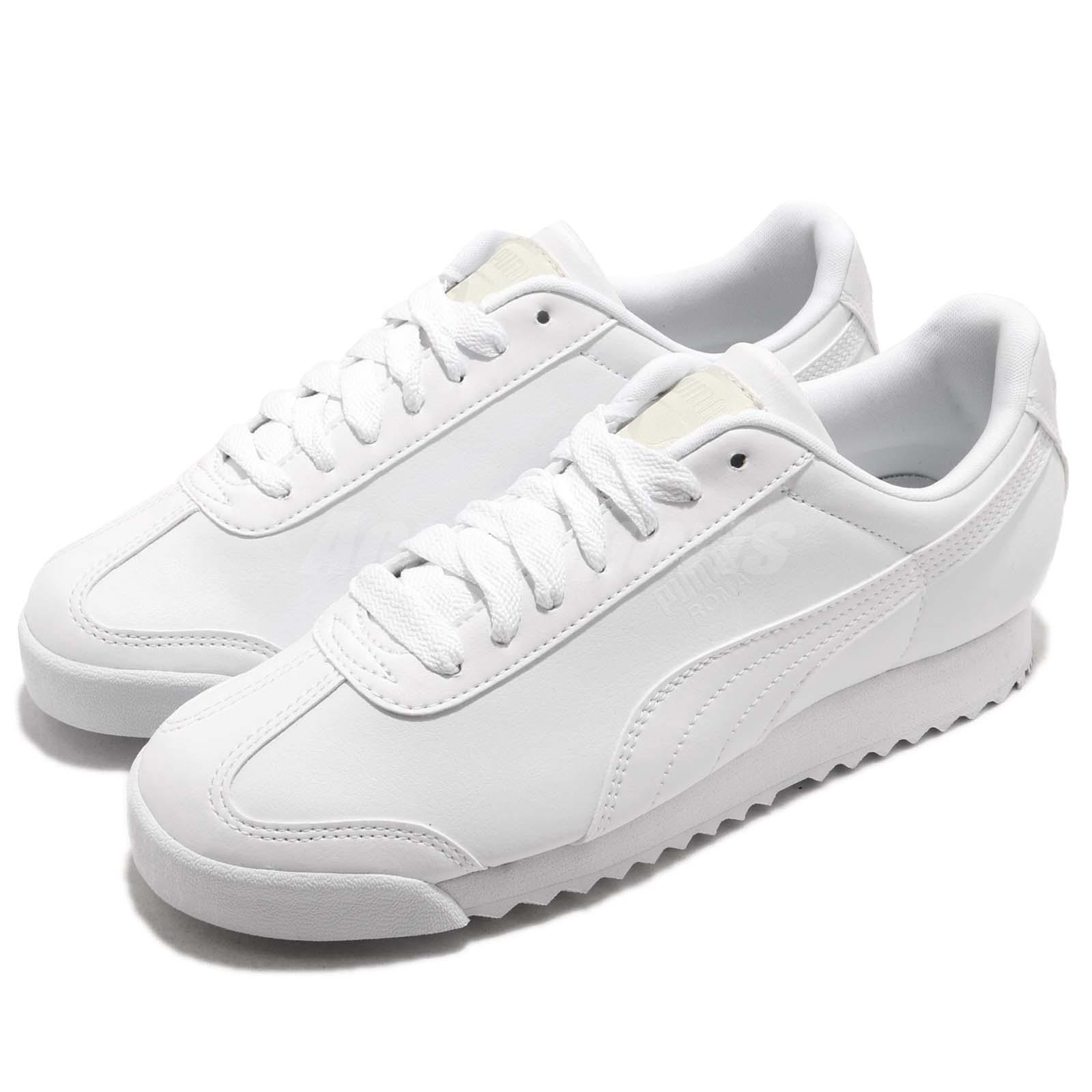 2dc2e3b835 Details about Puma Roma Basic White Men Women Running Walking Casual Shoes  Sneakers 353572-21