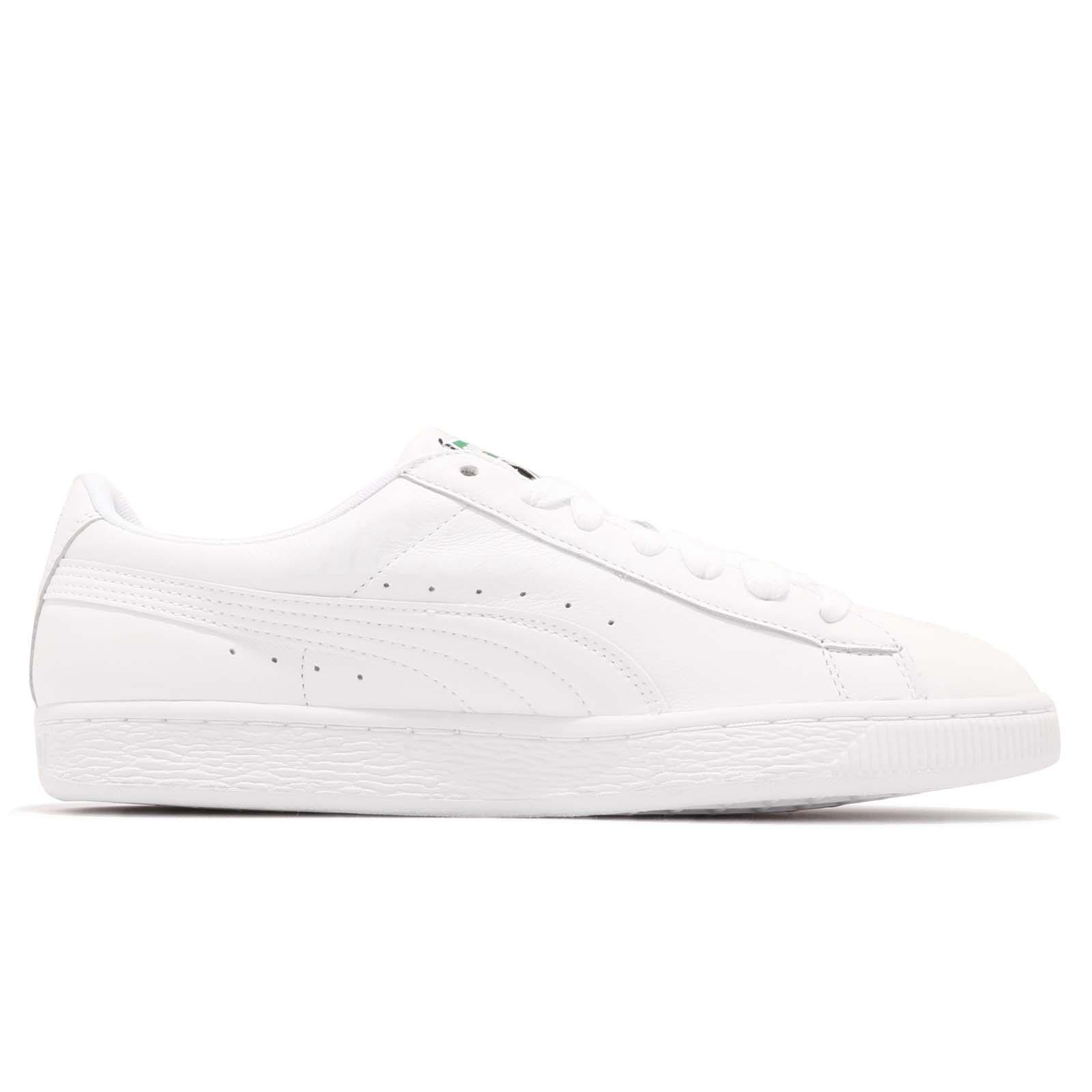 ed54669012a6 Puma Basket Classic LFS White Leather Mens Casual Shoes Trainers ...