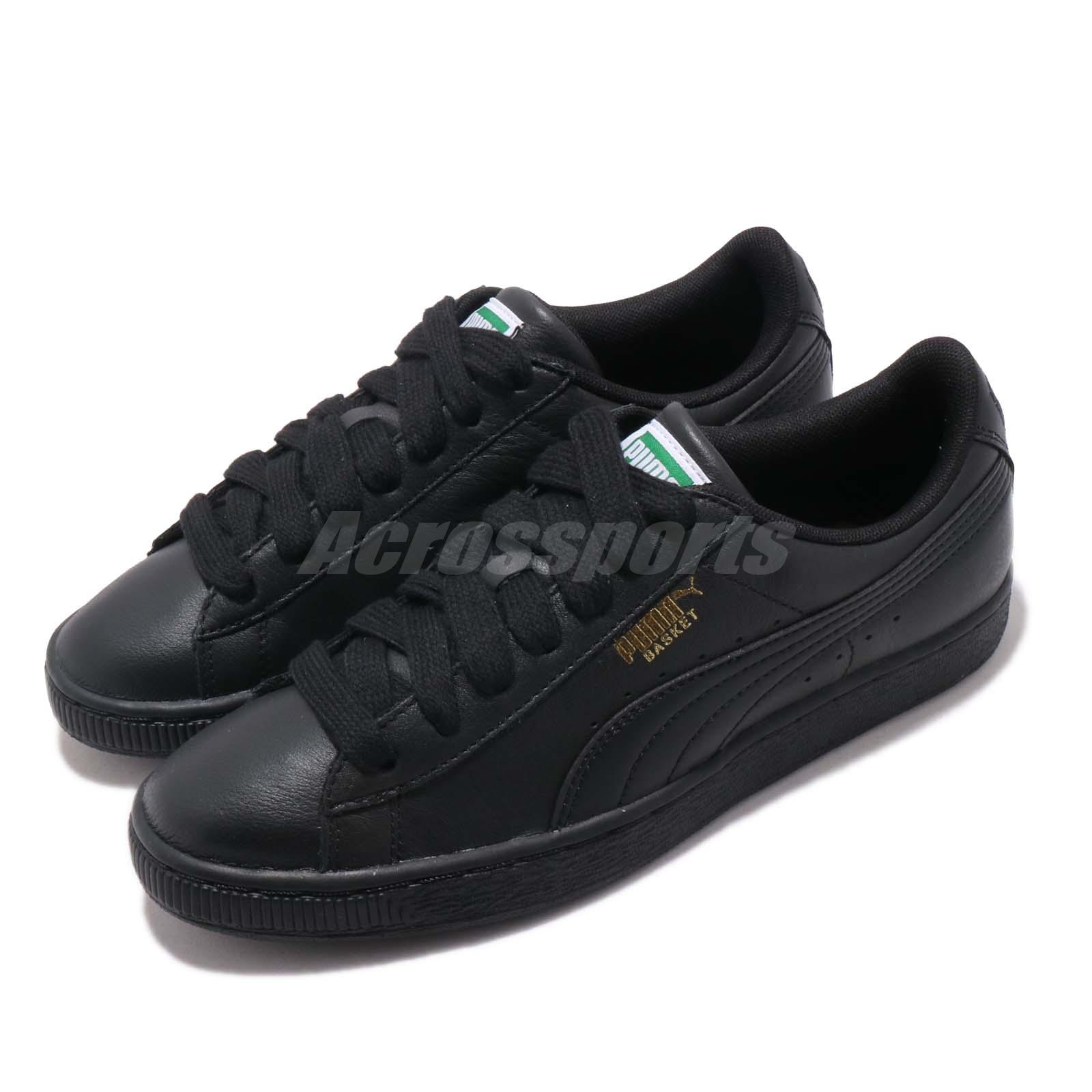 37f55ec2798a Details about Puma Basket Classic LFS Black Gold Men Women Casual Shoes  Sneakers 354367-19