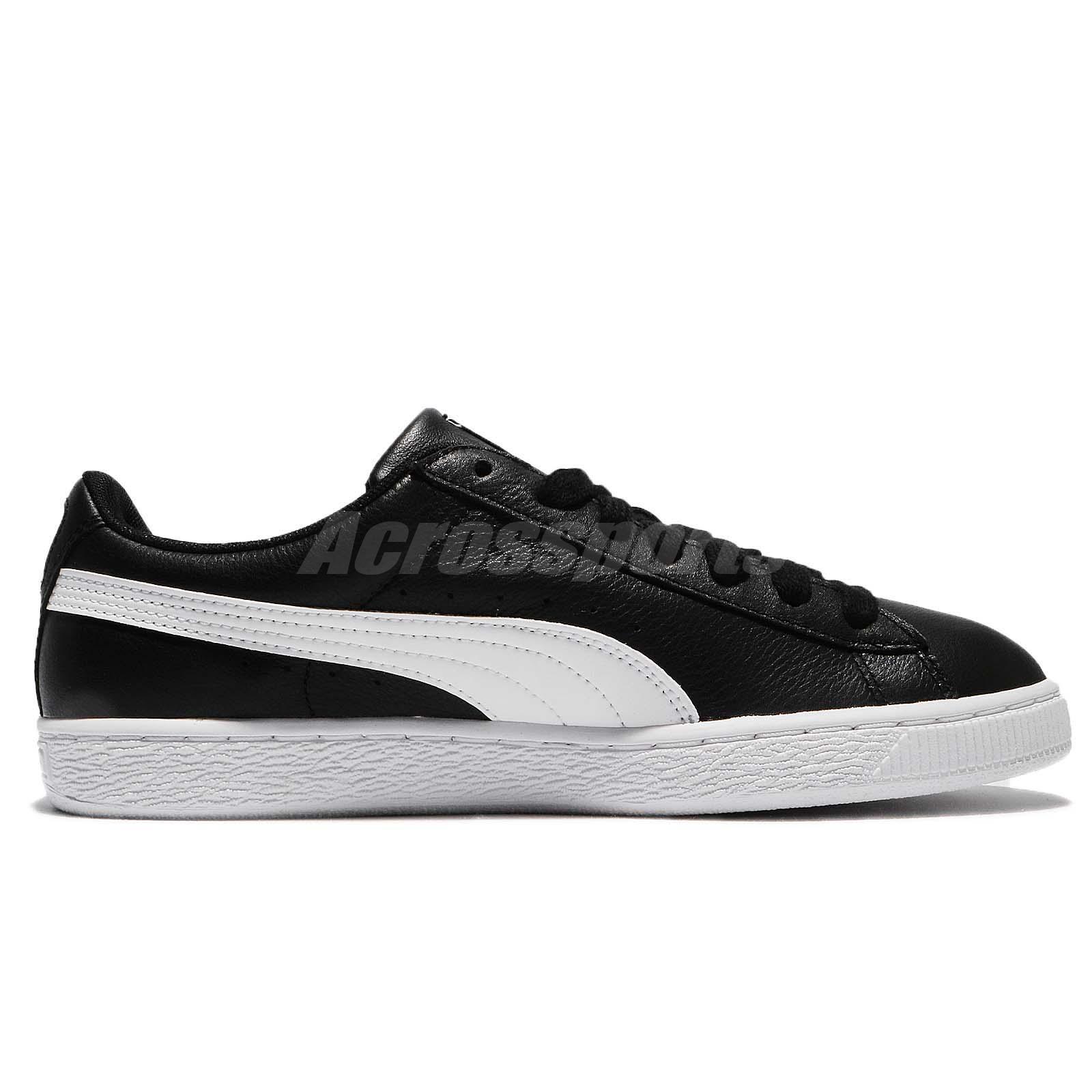 Puma Basket Classic LFS Low Black White Men Shoes Sneakers Trainers ... 521bd71bd