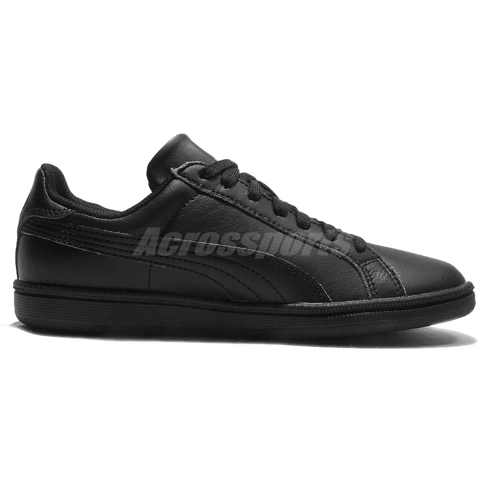 all black leather puma shoes