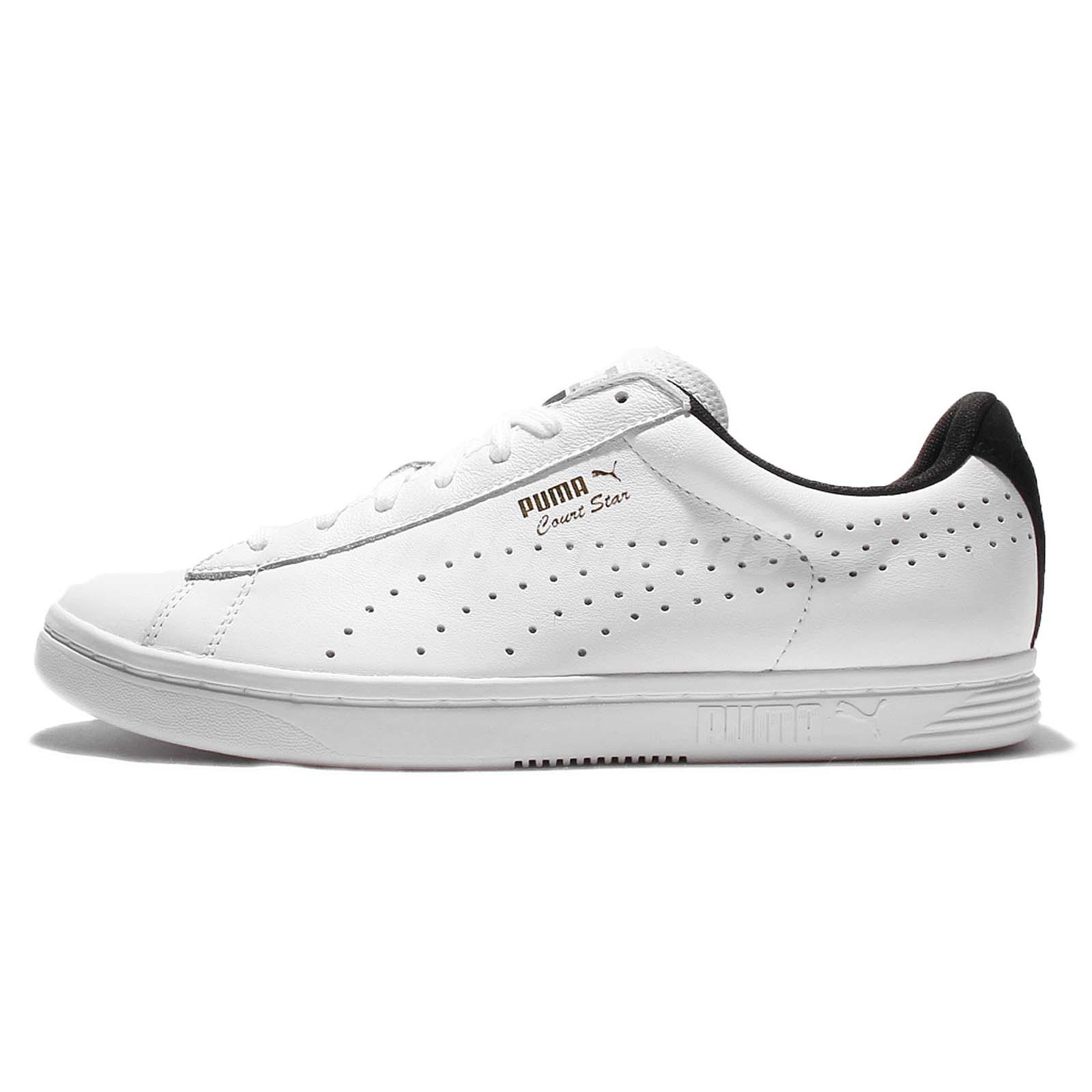 brand new 82d6a a3f00 Details about Puma Court Star CRFTD Crafted White Black Mens Training Shoes  Trainers 359977-09