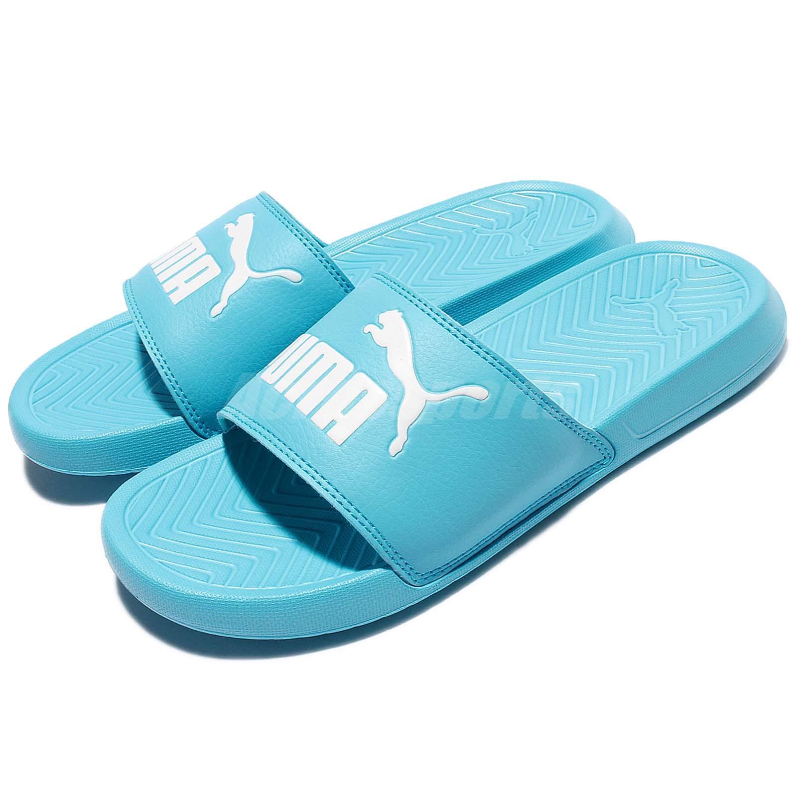58c556cf62d745 Details about Puma Popcat Rubber Blue White Men Women Sandal Slippers  Slides 360265-17