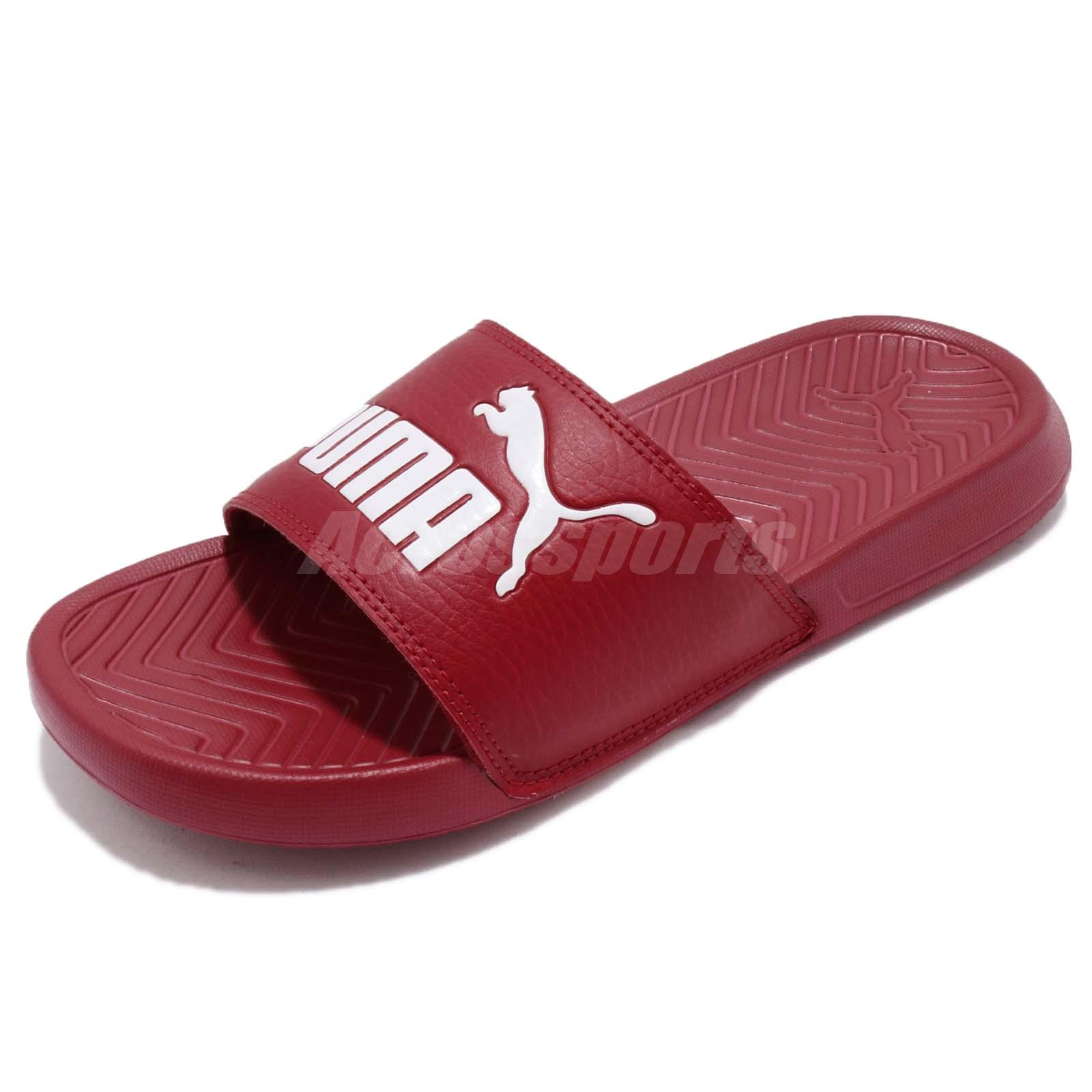 5b68e00ef64c Details about Puma Popcat Red White Men Women Sandal Slippers Slides  360265-22