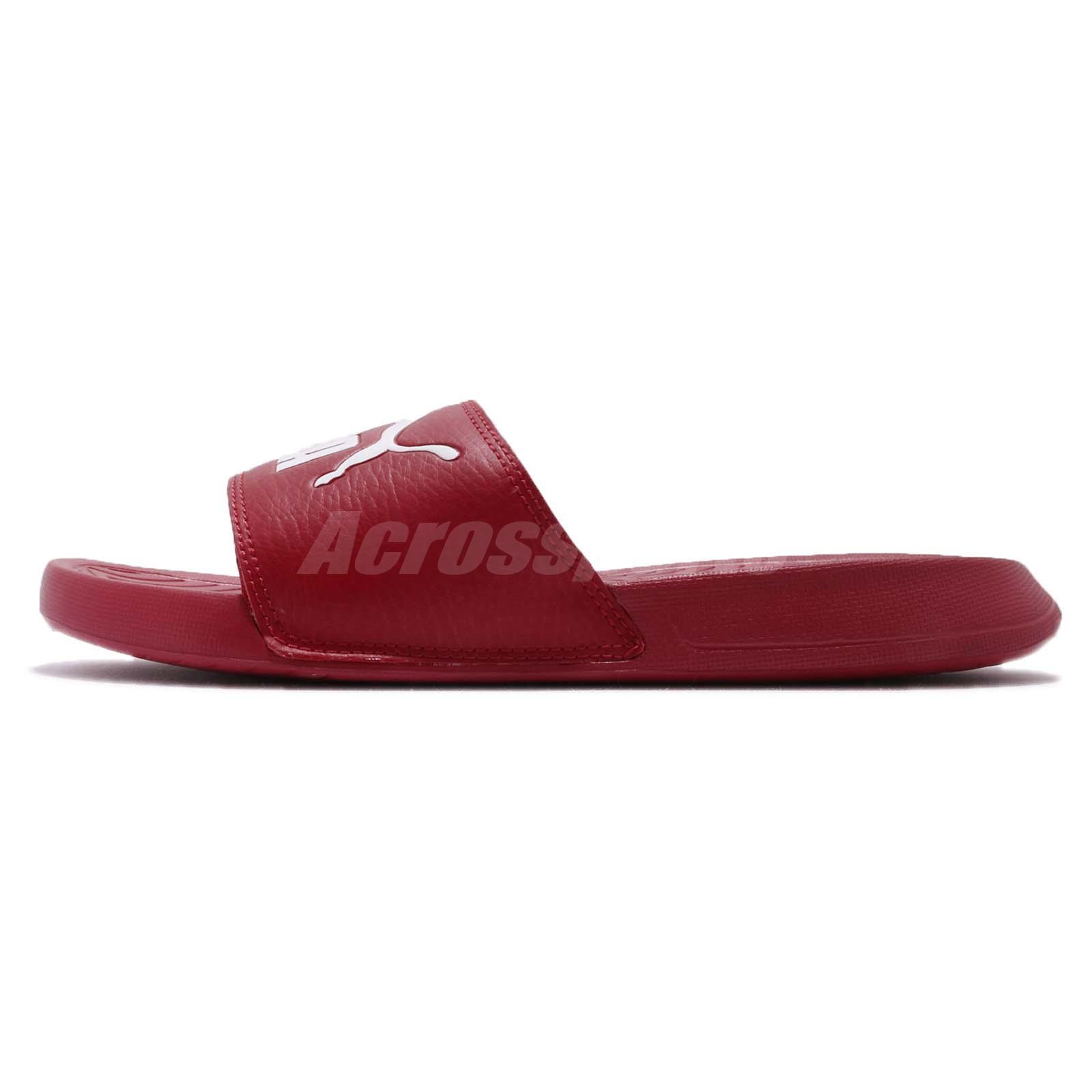 a3edd48c8ae8dd Puma Popcat Red White Men Women Sandal Slippers Slides 360265-22