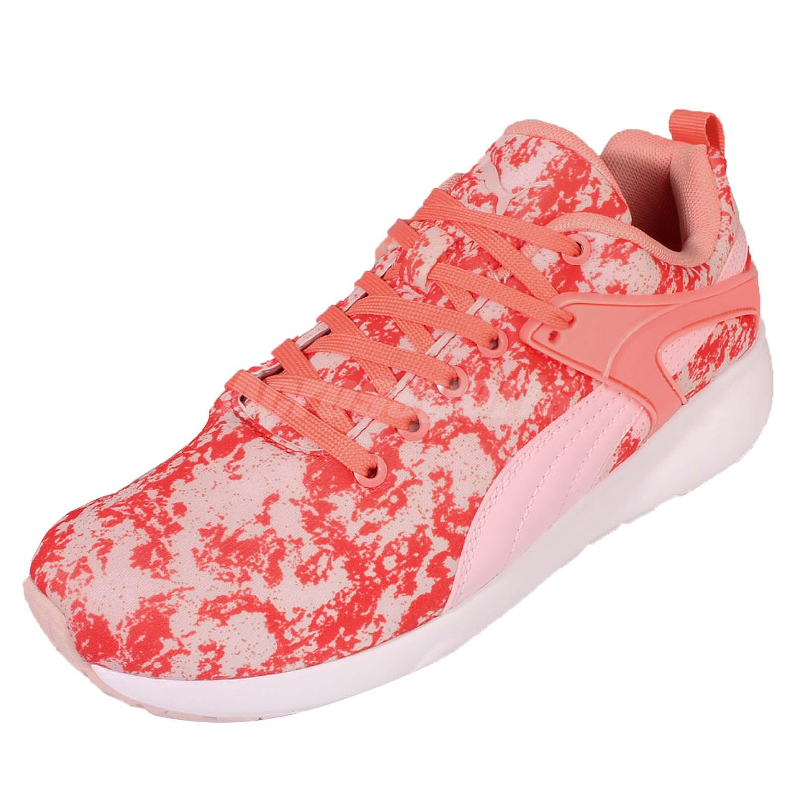 Details about Puma Aril Blaze Variation Wns Orange Pink Women Running Casual Shoes 360335 02