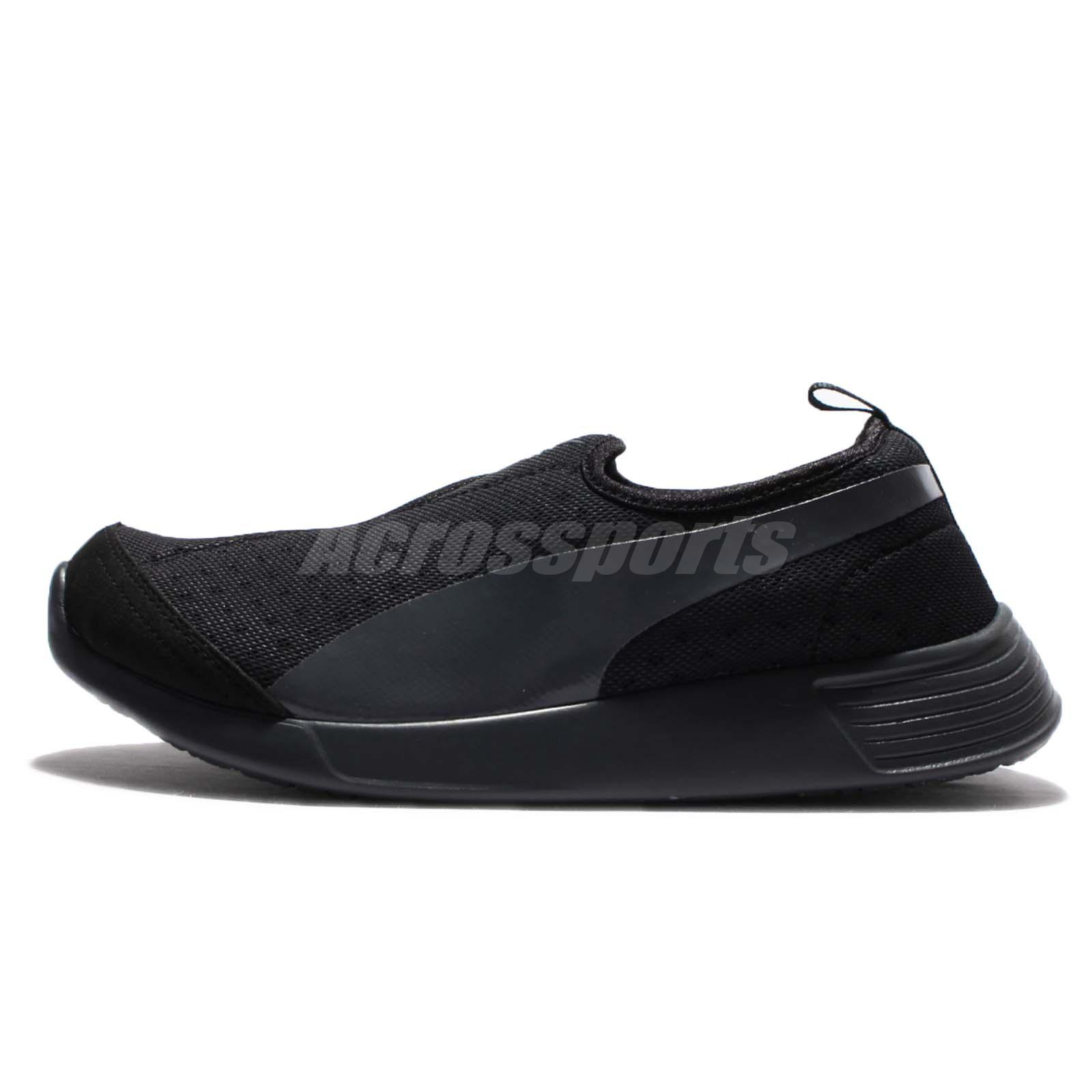 Puma ST Trainer EVO Slip-On Evolution Triple Black Mens Running Shoes  360482-05 08b50a18fa69c