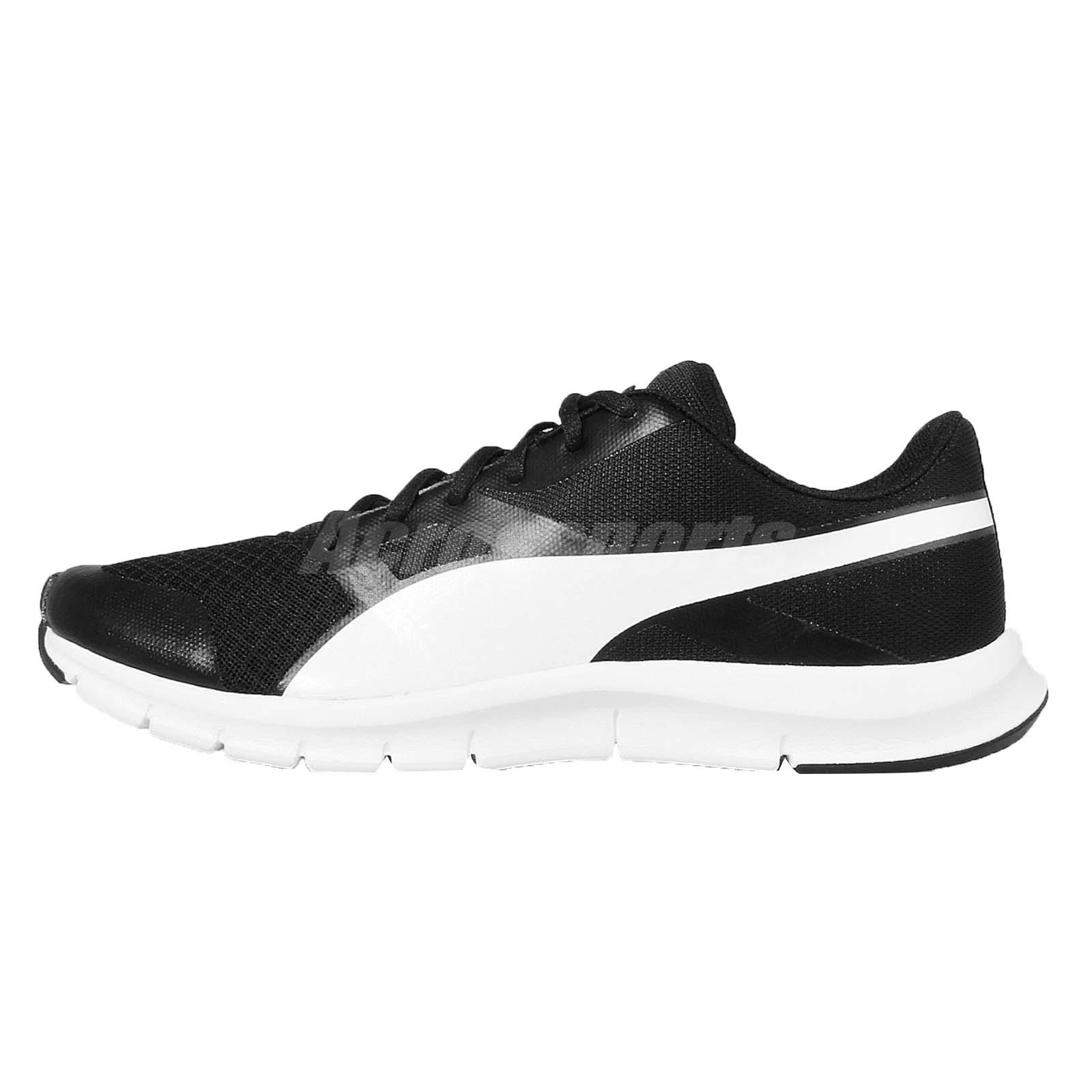 Puma Flexracer Black White Mens Running Shoes 360580 01