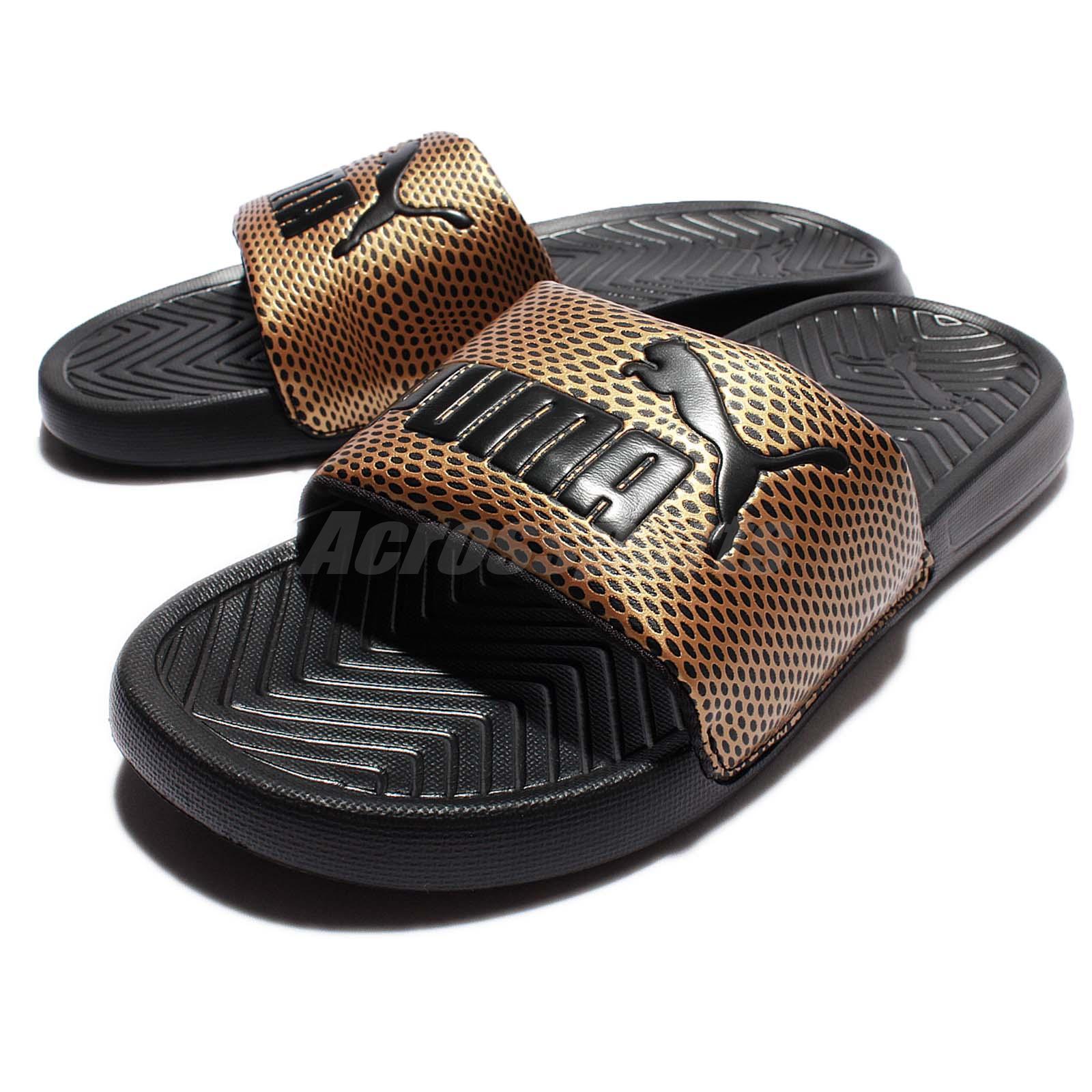 3a3f0f26f484 ... sweden puma slides gold d6b0d ca0e7 sweden puma slides gold d6b0d  ca0e7  usa puma leadcat suede black gold men women slippers sliders sandal  ...
