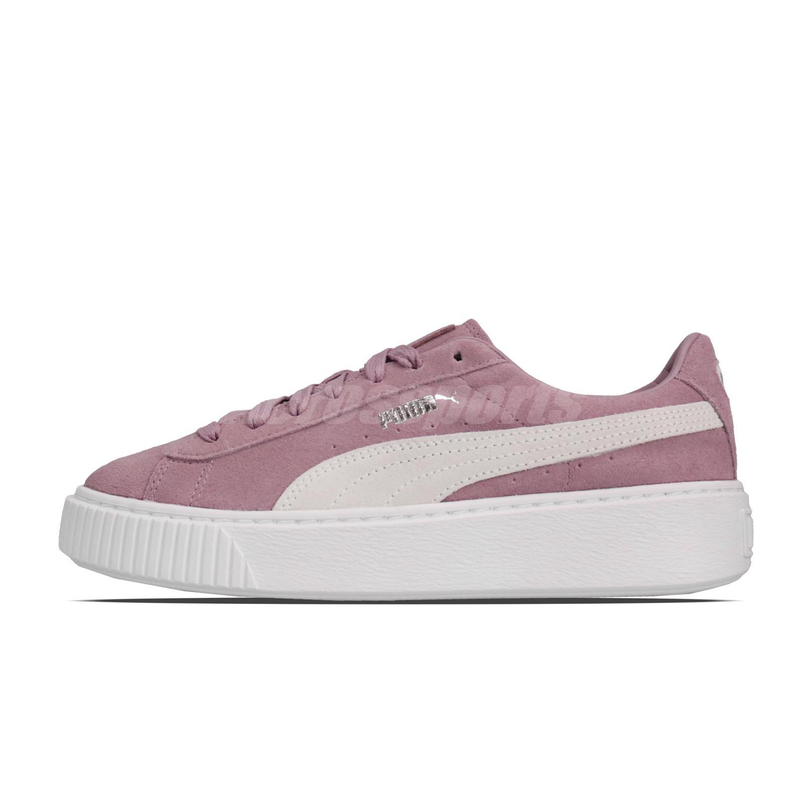 sports shoes ece71 21d09 Details about Puma Suede Platform Elderberry Purple Womens Casual Shoes  362223-11
