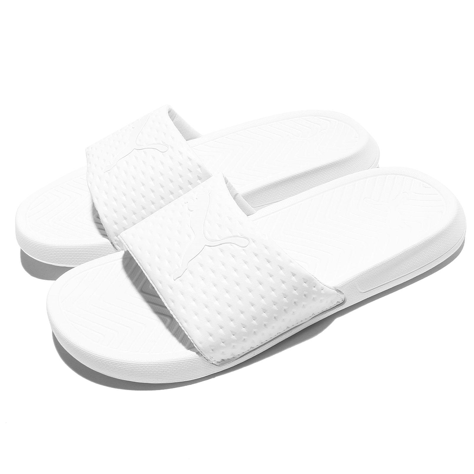 74138c63c89 Details about Puma Popcat Premium EVA Midsole Triple White Men Sandal Slides  Slipper 362458-01