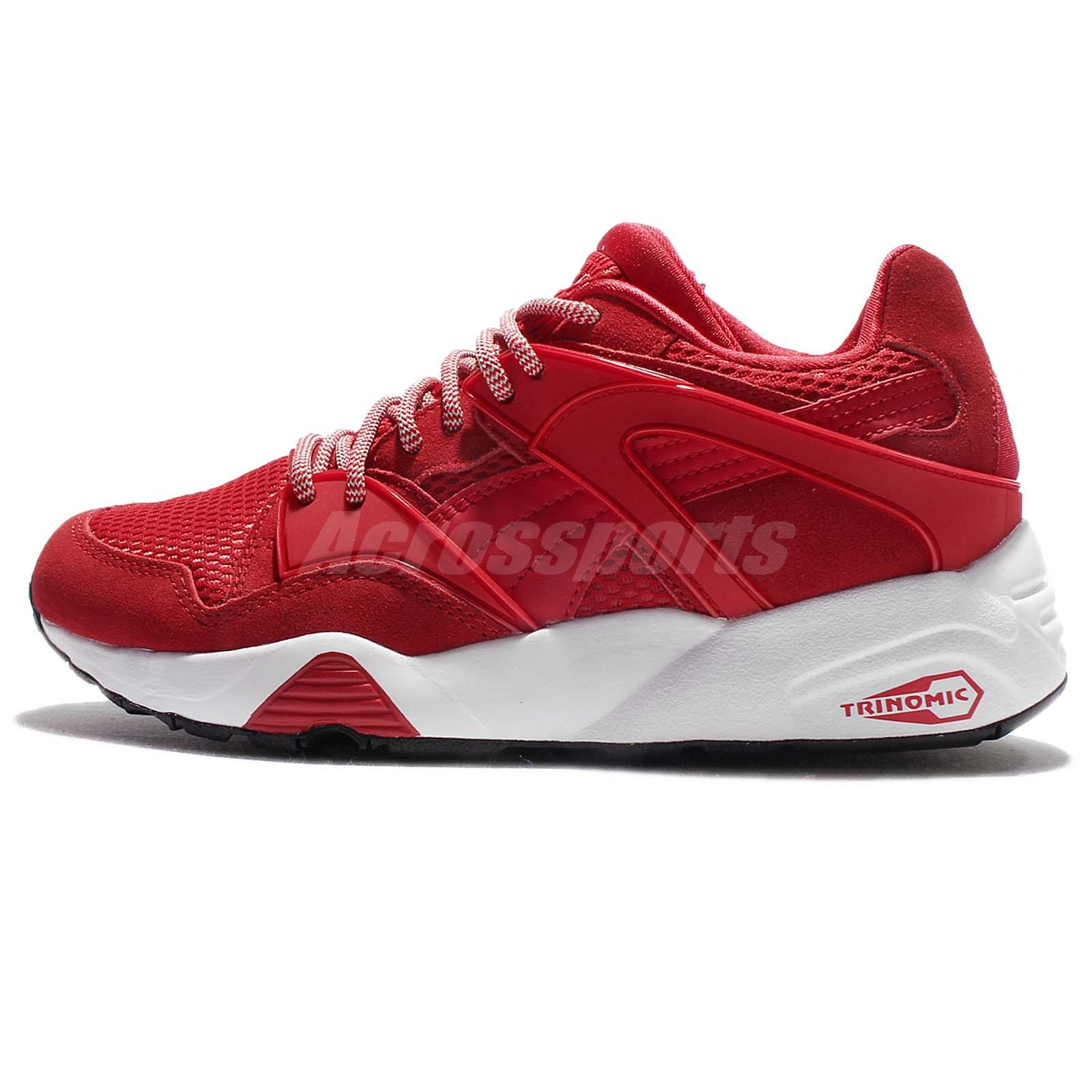 Puma Blaze Red White Trinomic Suede Men Casual Shoes Sneakers Trainers  362510-04 dfd72a0ee
