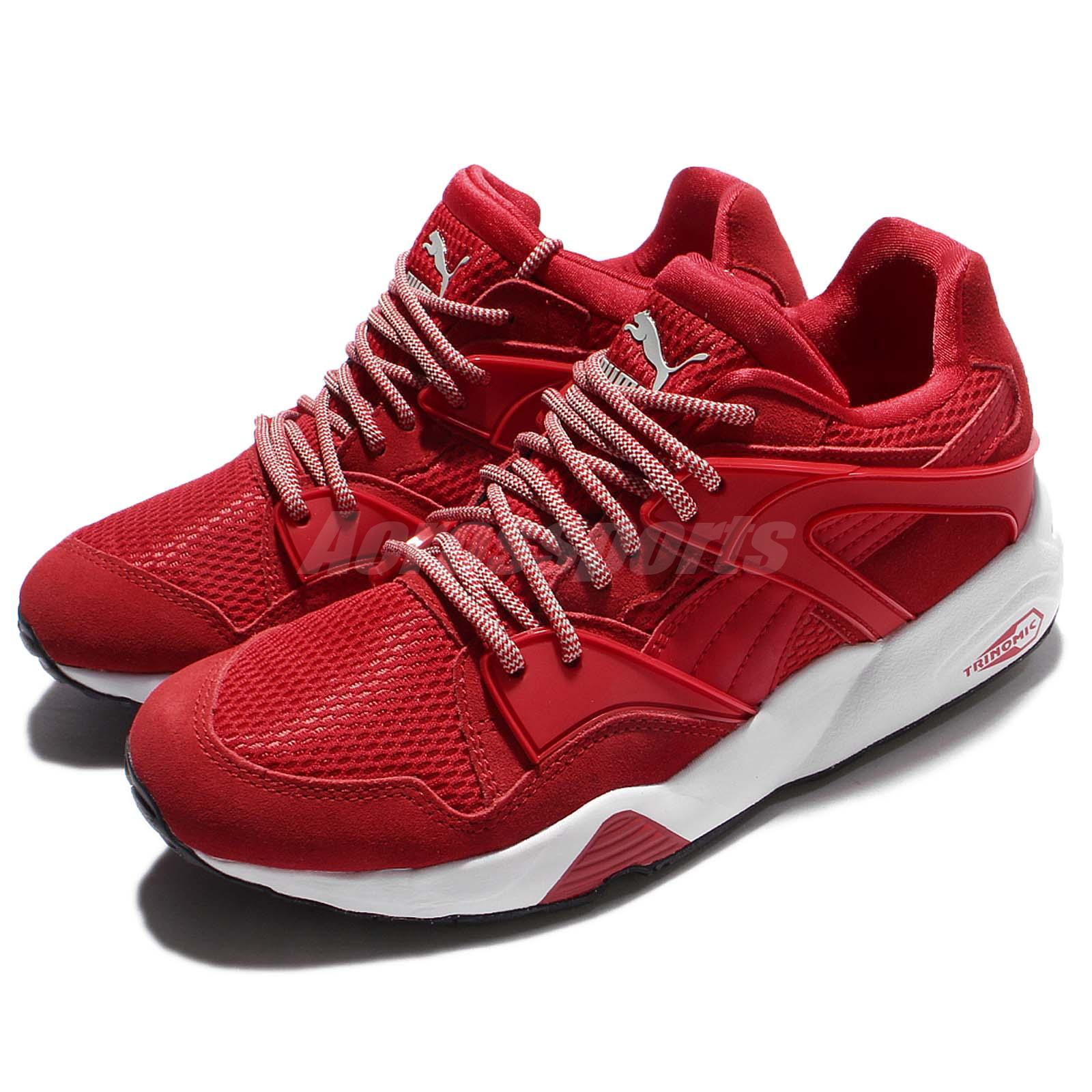 79813724d9c Details about Puma Blaze Red White Trinomic Suede Men Casual Shoes Sneakers  Trainers 362510-04