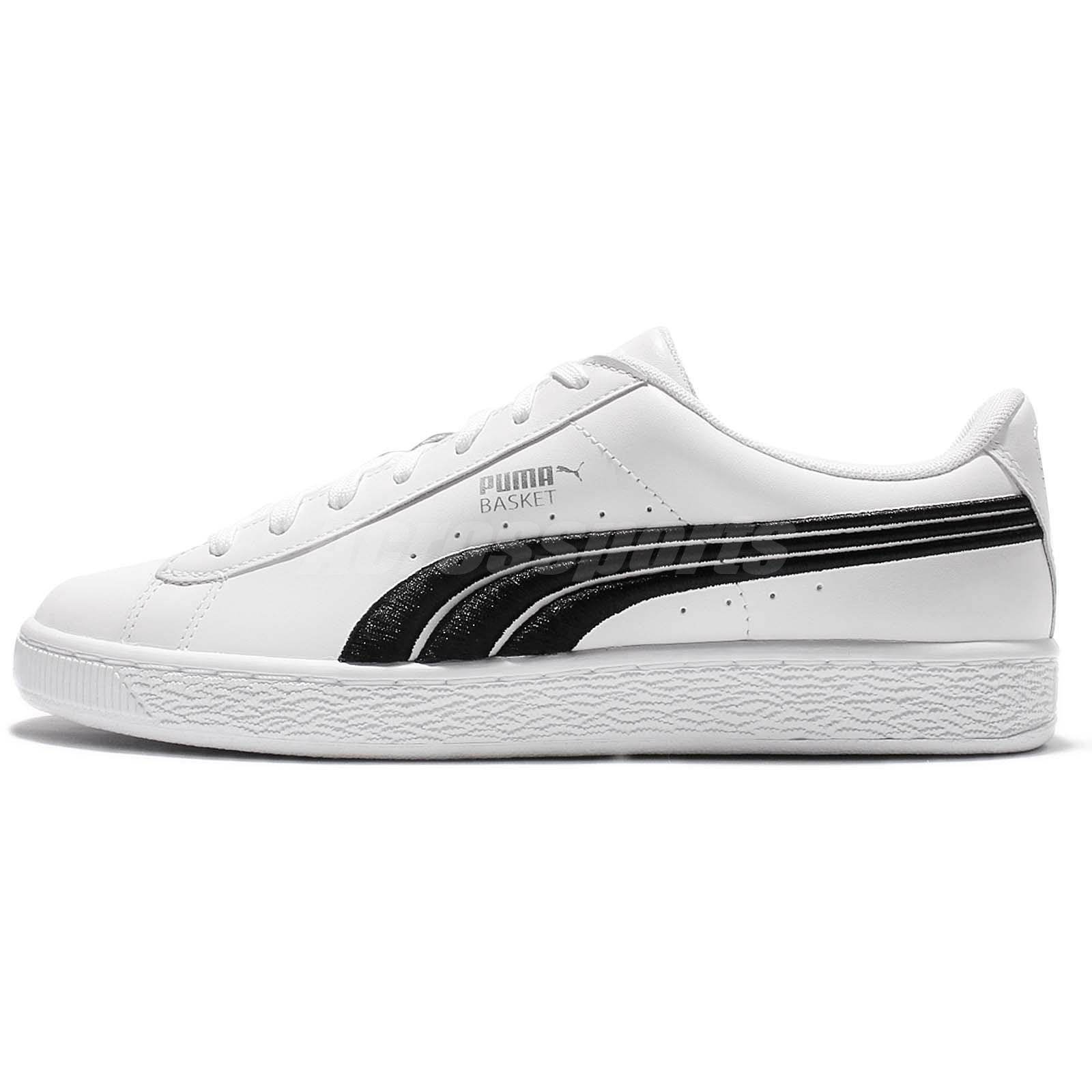 f562c34ff1765b Puma Basket Classic Badge White Black Low Men Casual Shoes Sneakers  362550-01
