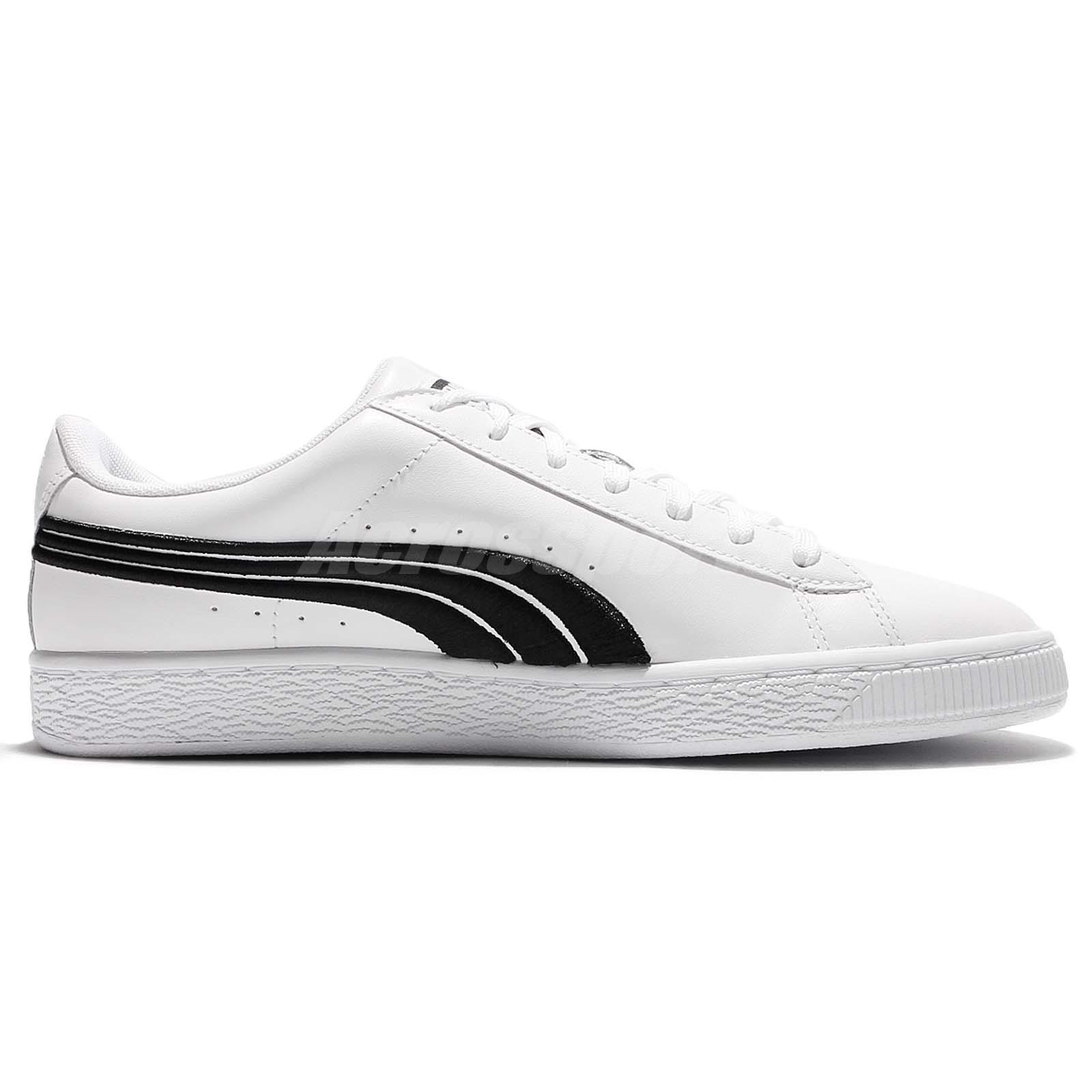 Puma Basket Classic Badge White Black Low Men Casual Shoes Sneakers ... 1c9243a69