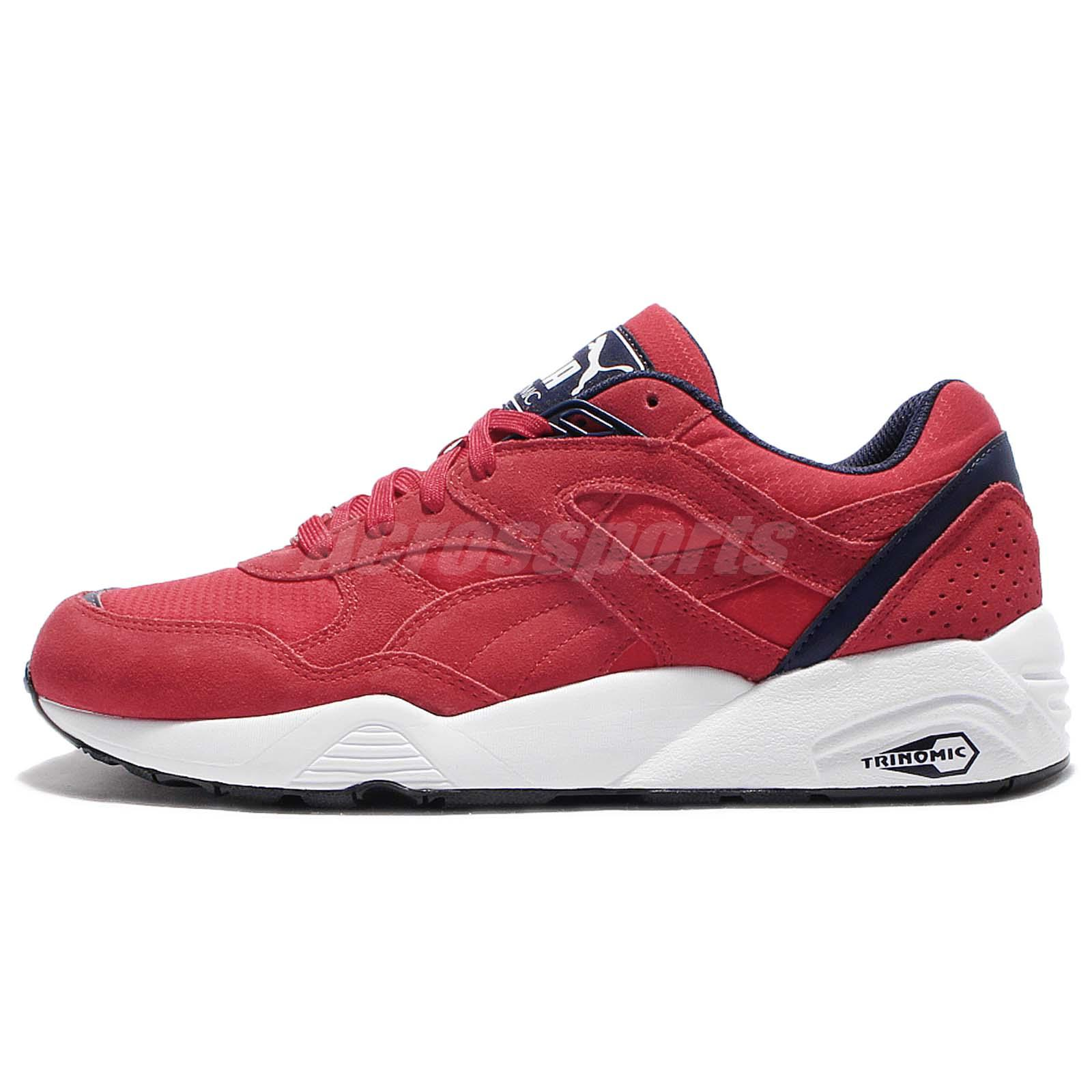 15551c8cf56 ... high risk red 6t0l2ng0 ce448 5dfdf  new arrivals puma r698 red blue  suede trinomic men running shoes sneakers trainers 362570 04 7155e