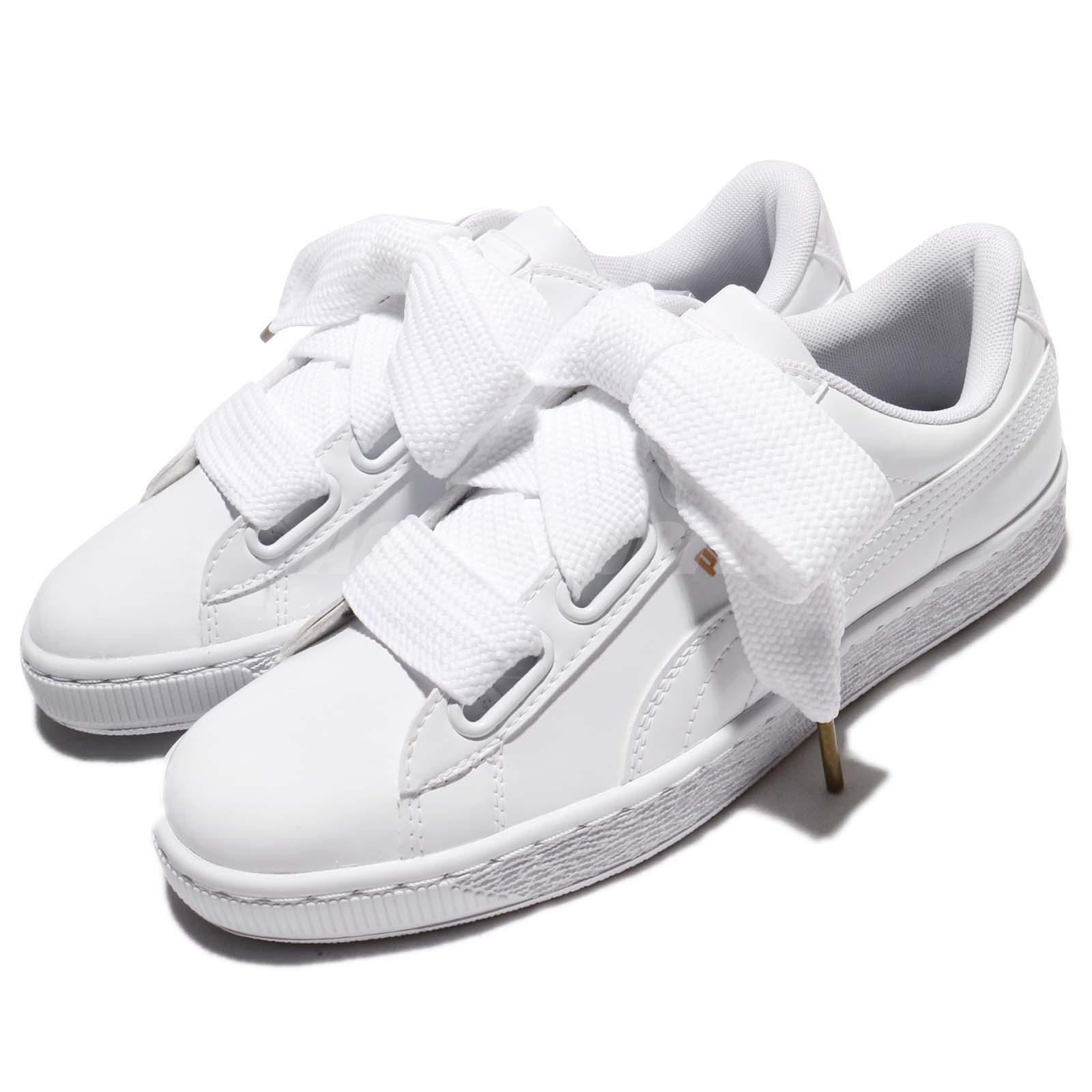 premium selection abcee b4589 Details about Puma Basket Heart Patent Wns Leather White Women Shoes  Sneakers 363073-02