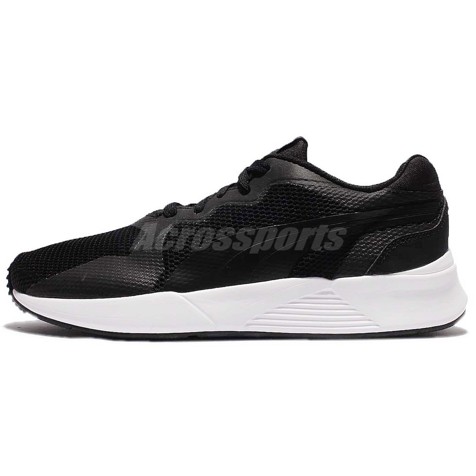 Puma Pacer Plus Tech Black White Men Running Shoes Sneakers Trainers  363338-01