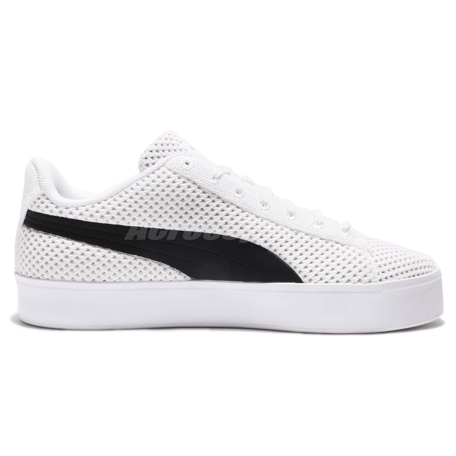 80059fa7bd9 Puma X DP Court Platform K Daily Paper White Black Men Casual Shoes ...