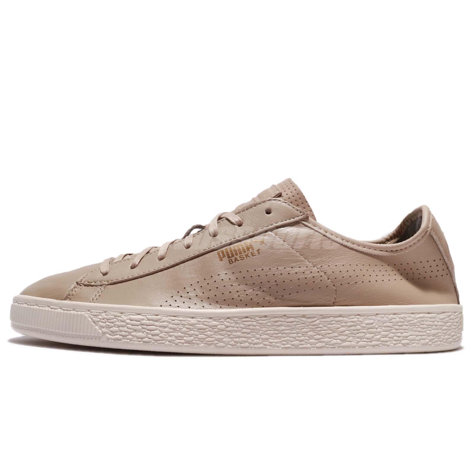 5f336db46055 Puma Basket Classic Soft Leather Safari Light Brown Men Shoes Sneakers  363824-05