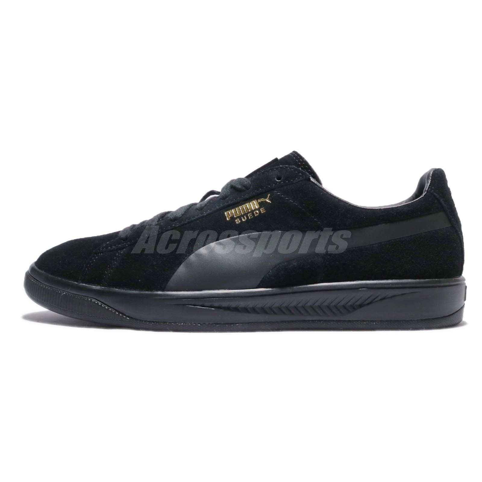 puma shoes suede black. puma suede ignite black gold men training shoes sneakers casual 364069-05