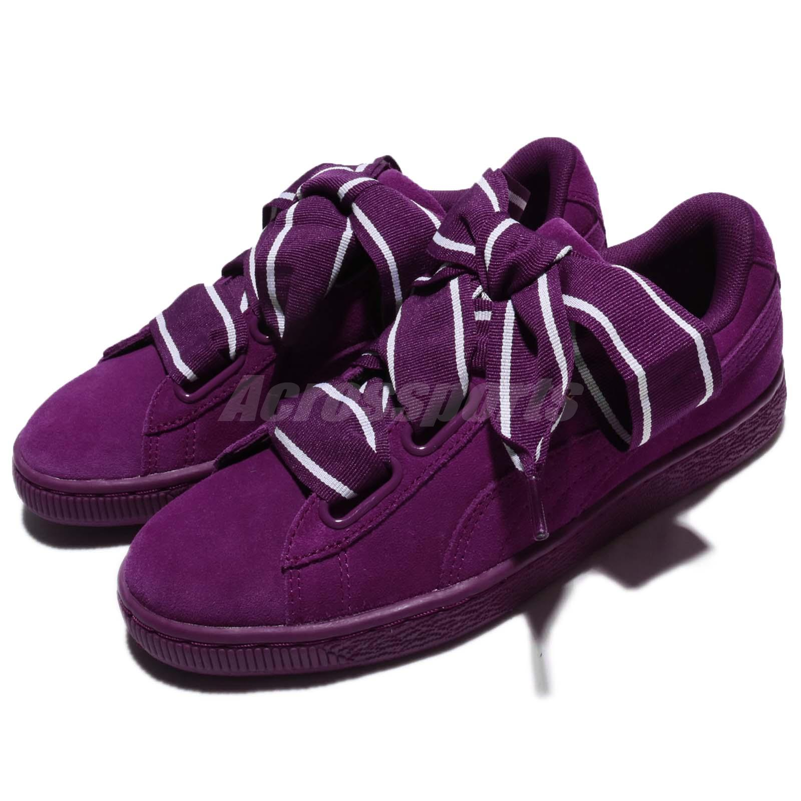 275cf51d1bcc3 Details about Puma Suede Heart Satin II 2 Wns Dark Purple Suede Women Shoes  Sneakers 364084-02