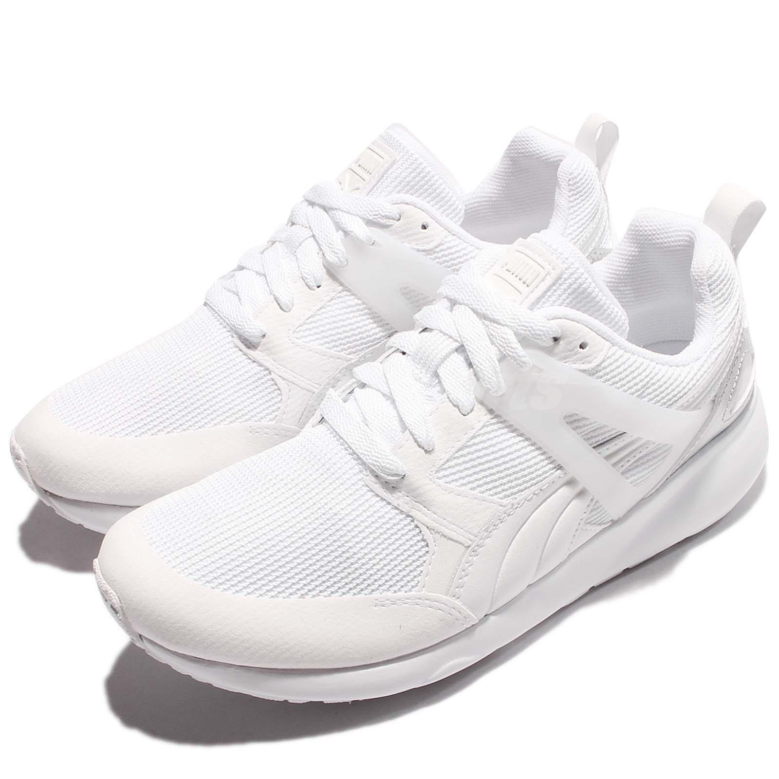 d4deebac4b29 Details about Puma Aril Metallic White Silver Men Running Shoes Lifestyle  Sneakers 364711-02
