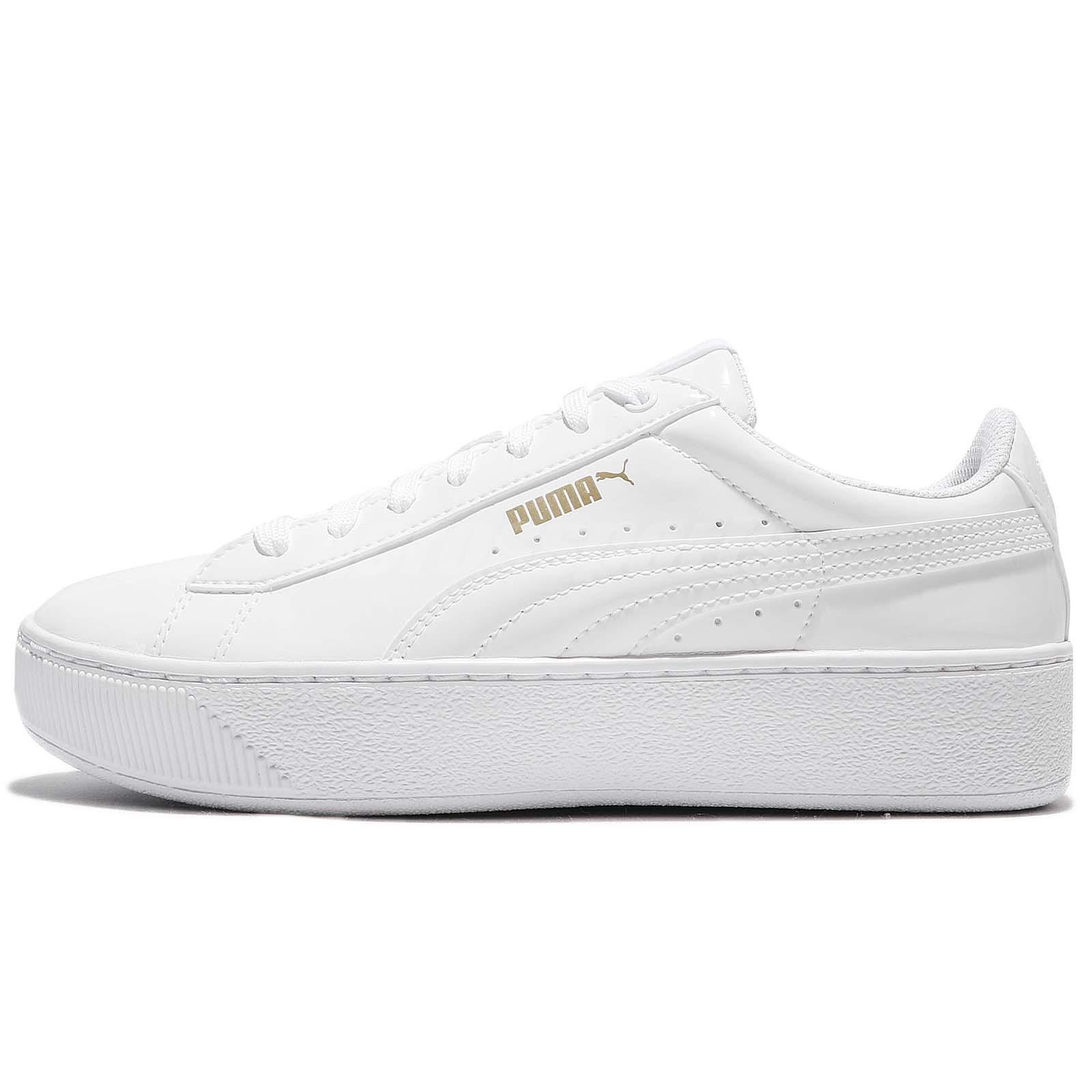 puma platform white