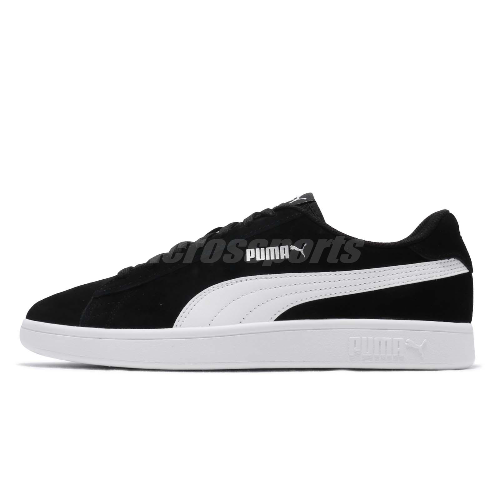 0a00b60ecb1e Puma Smash V2 Black White Silver Men Classic Casual Shoes Sneakers 364989-01