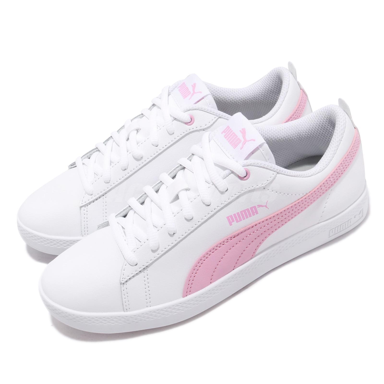 renomowana strona rozmiar 40 nowe wydanie Details about Puma Smash Wns V2 L White Pale Pink Women Casual Shoes  Sneakers 365208-10