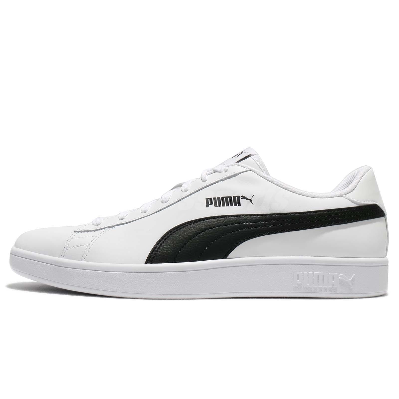 Dettagli su Puma Smash V2 L White Black Classic Men Shoes Sneakers Trainers 365215 01