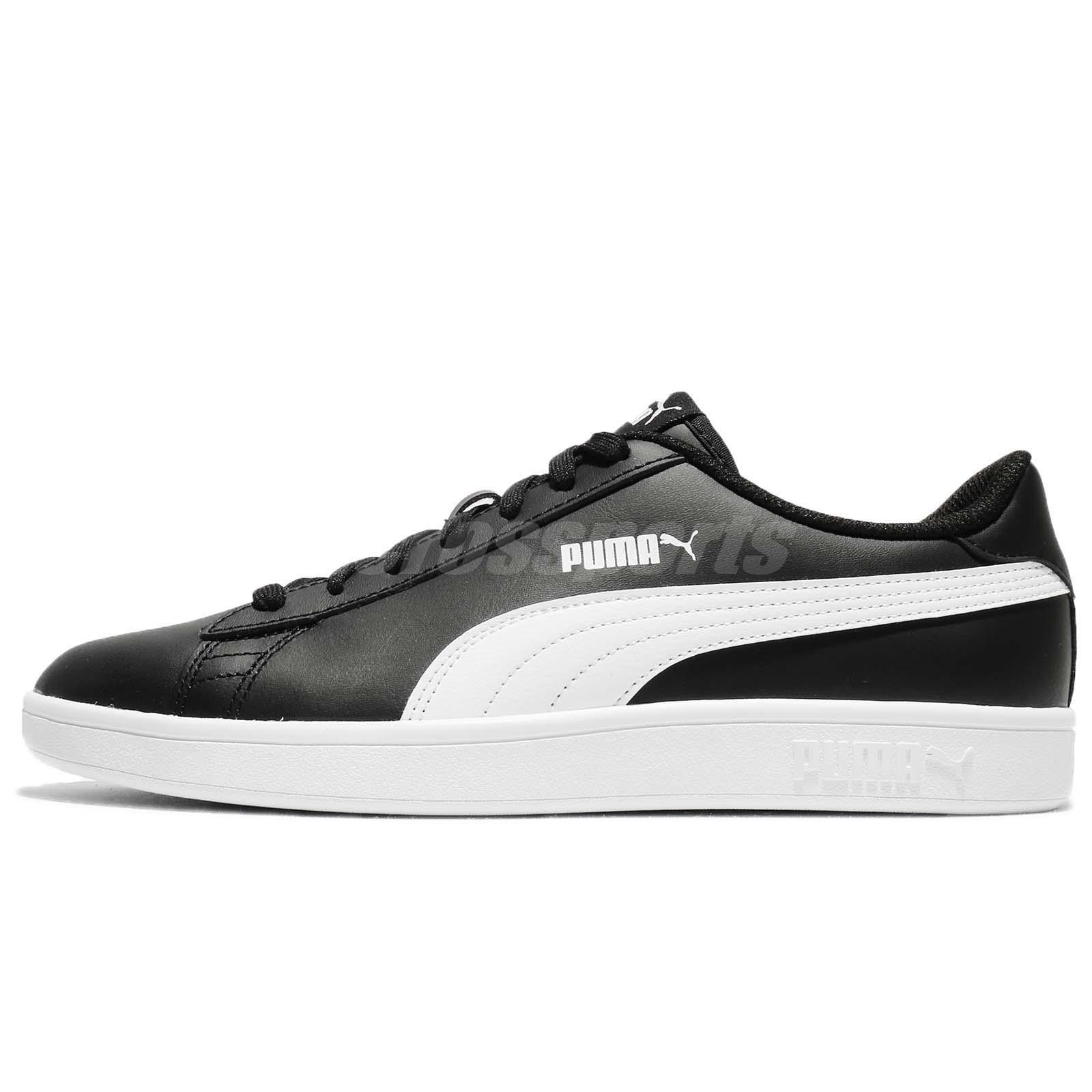 17b9756d5d7 Details about Puma Smash V2 L Black White Men Classic Shoes Sneakers  Trainers 365215-04