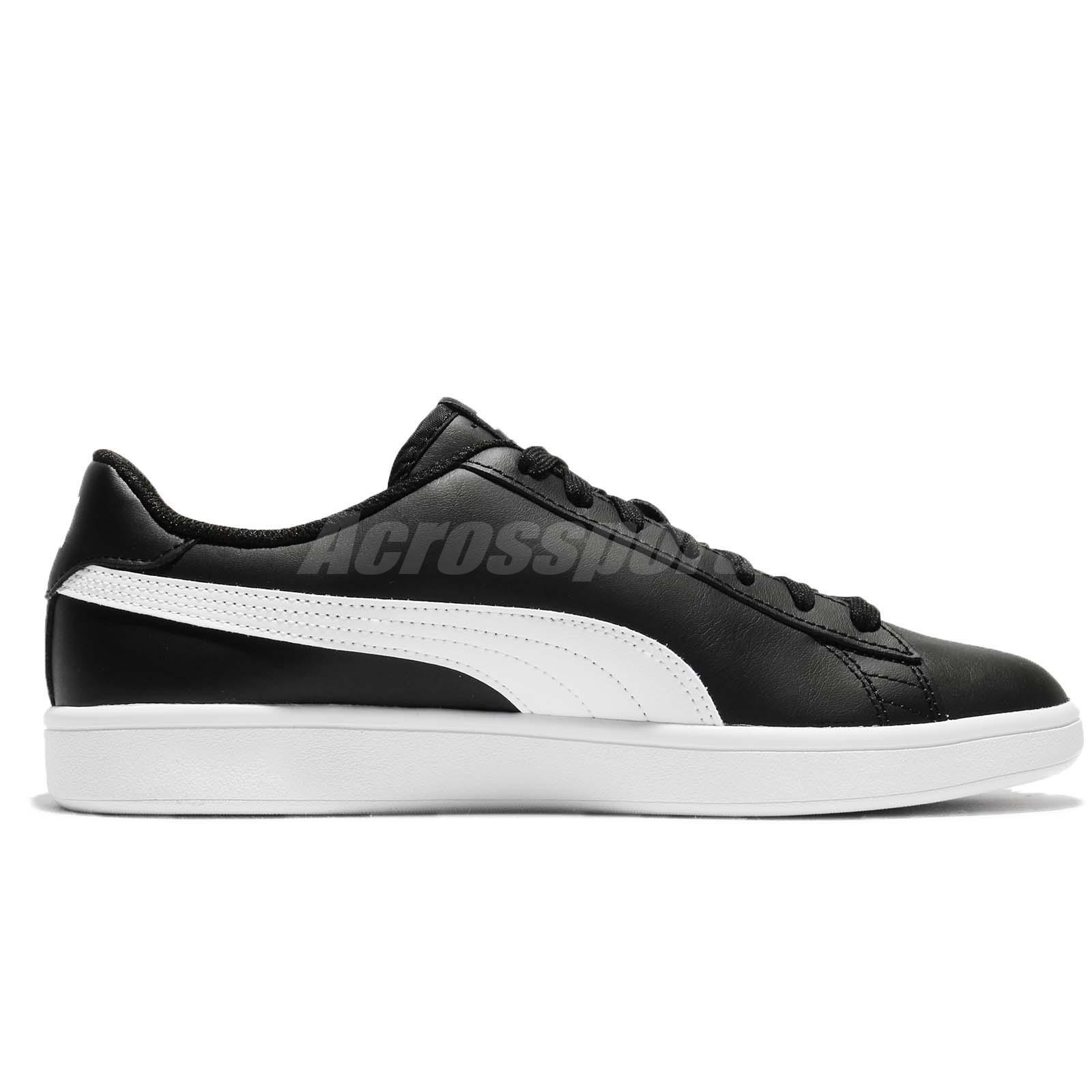 Puma Smash V2 L Black White Men Classic Shoes Sneakers Trainers ... 8d047b136