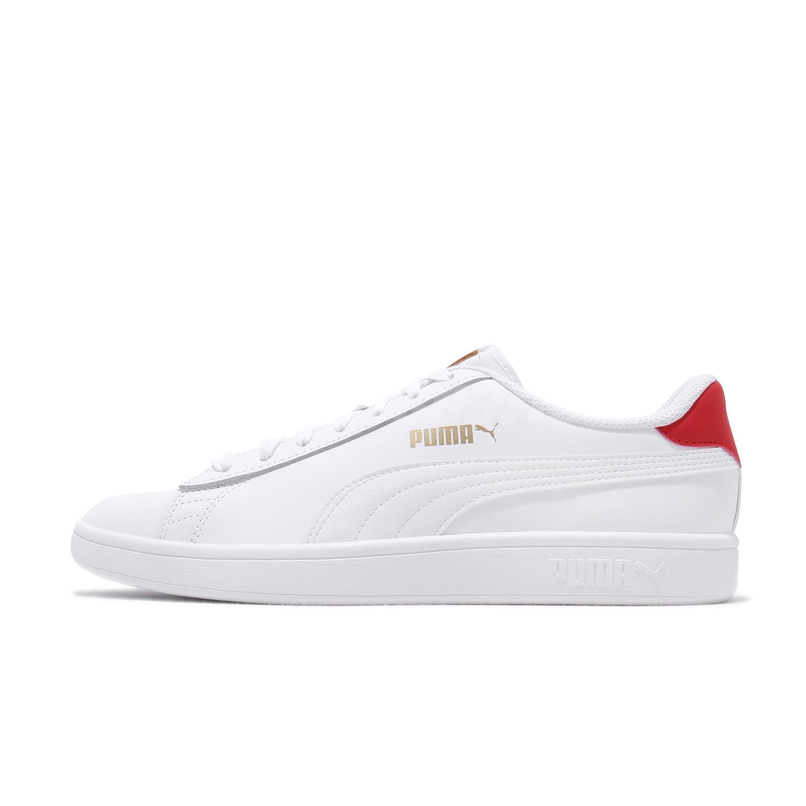 Puma Smash v2 L White Red Gold Men