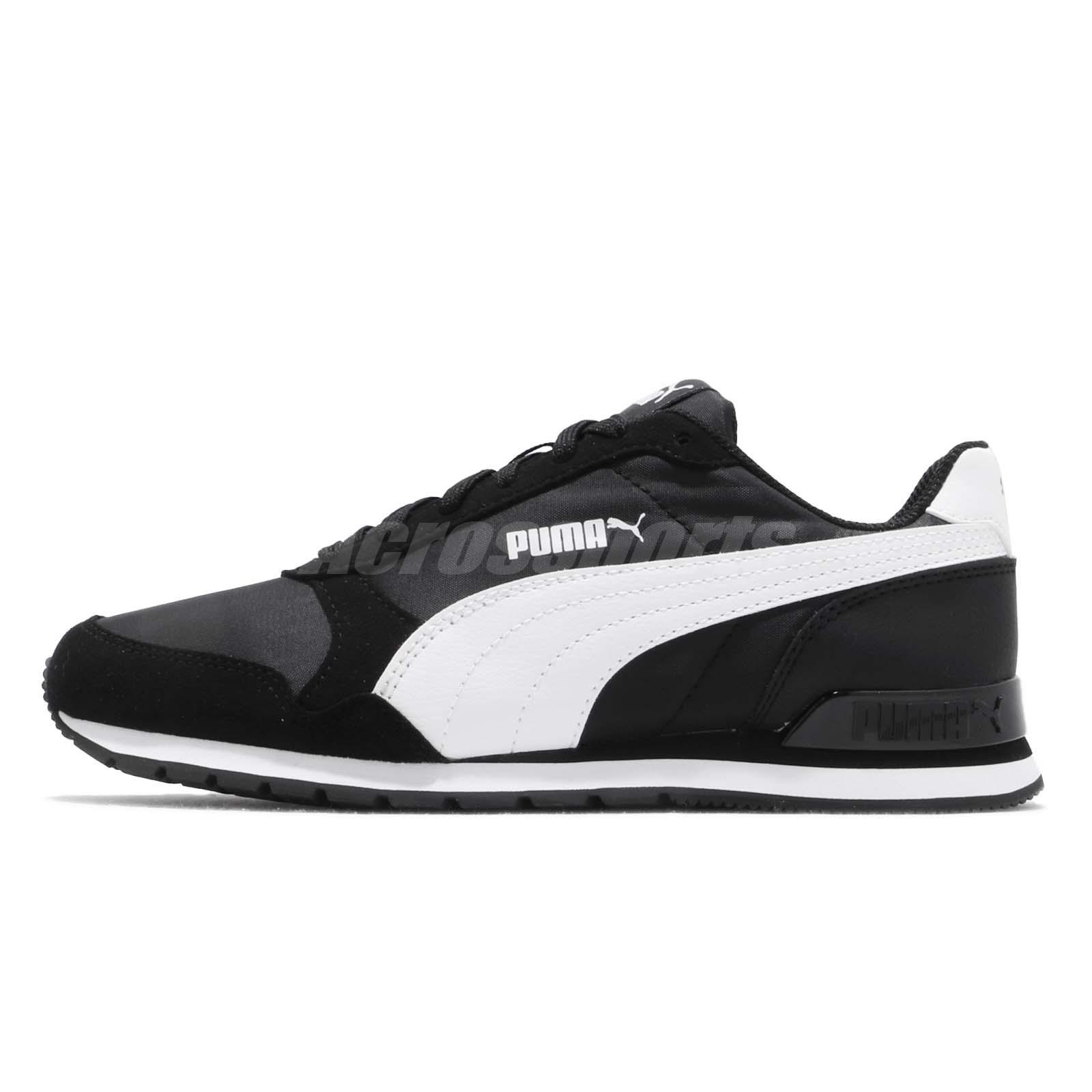 18197df58e9 Details about Puma ST Runner V2 NL Black White Men Women Unisex Running  Casual Shoes 365278-01