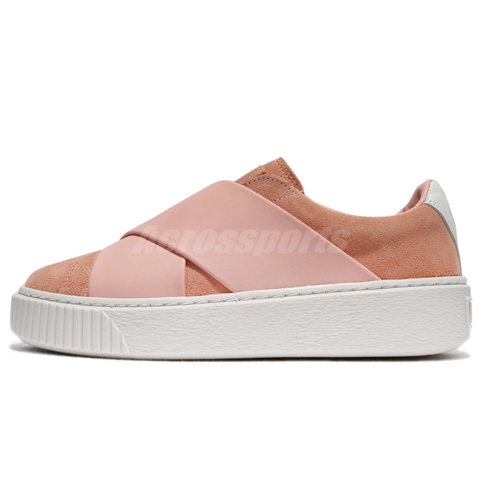 f4b3f0331fc Puma Platform X Wns Peach Beige Pink White Women Shoes Sneakers 365477-02