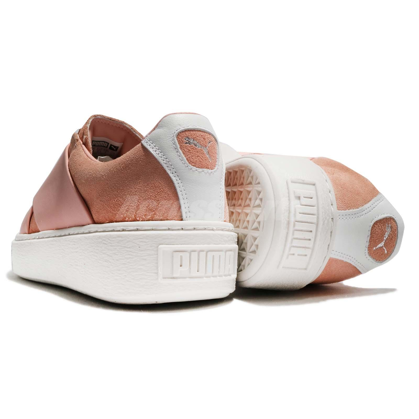 372b45850ad Puma Platform X Wns Peach Beige Pink White Women Shoes Sneakers ...