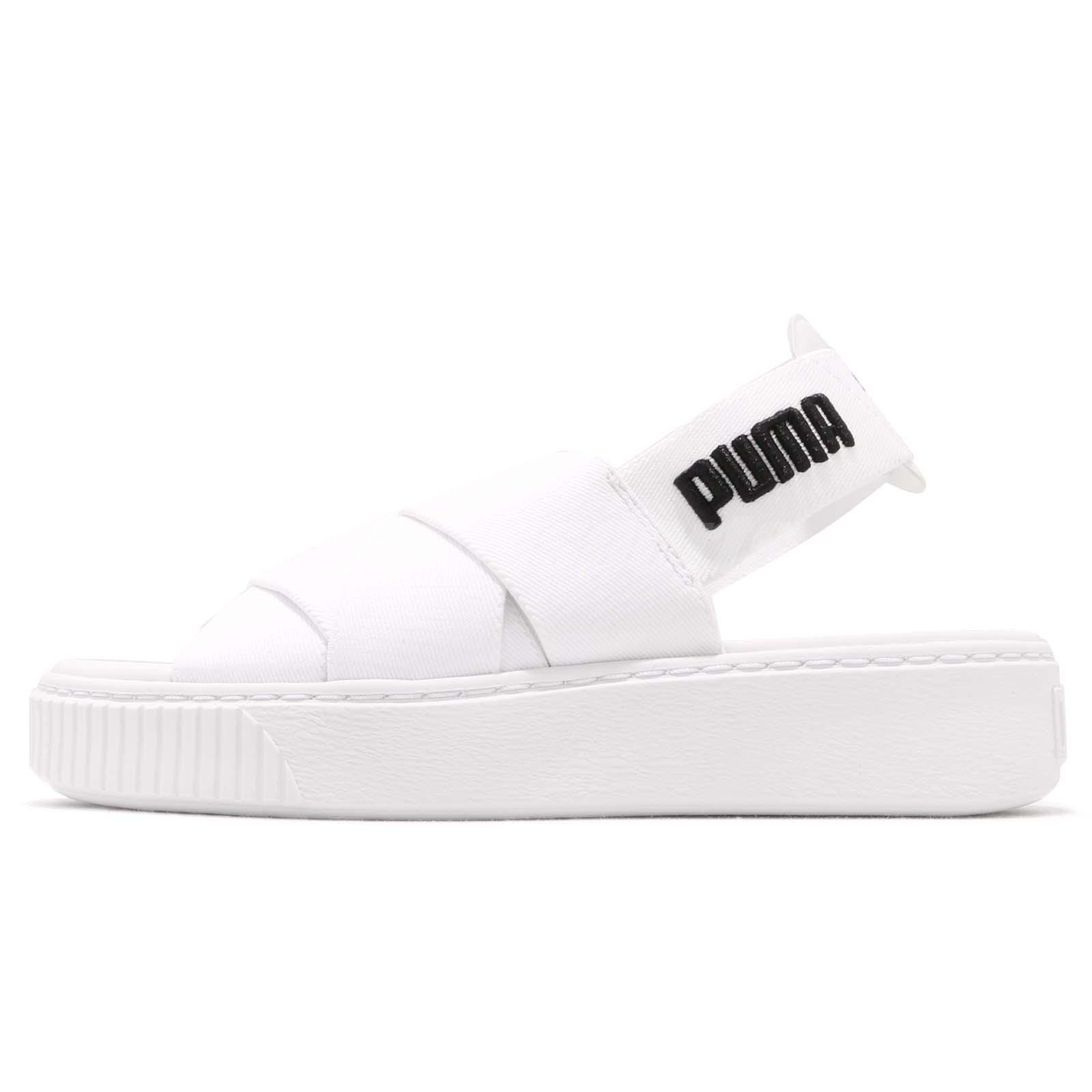 c80700c0e214 Puma Platform Sandal Wns White Black Women Sports Lifestyle Sandal 365478-02