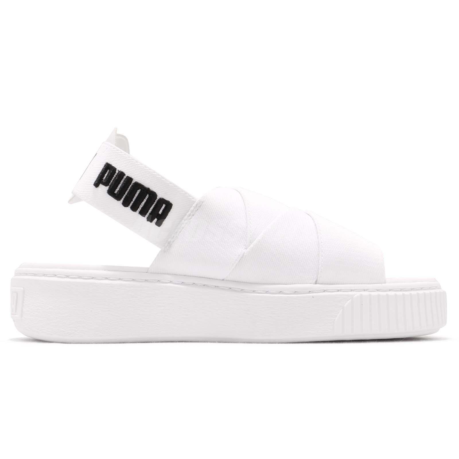 5a38c8b87efa Puma Platform Sandal Wns White Black Women Sports Lifestyle Sandal ...