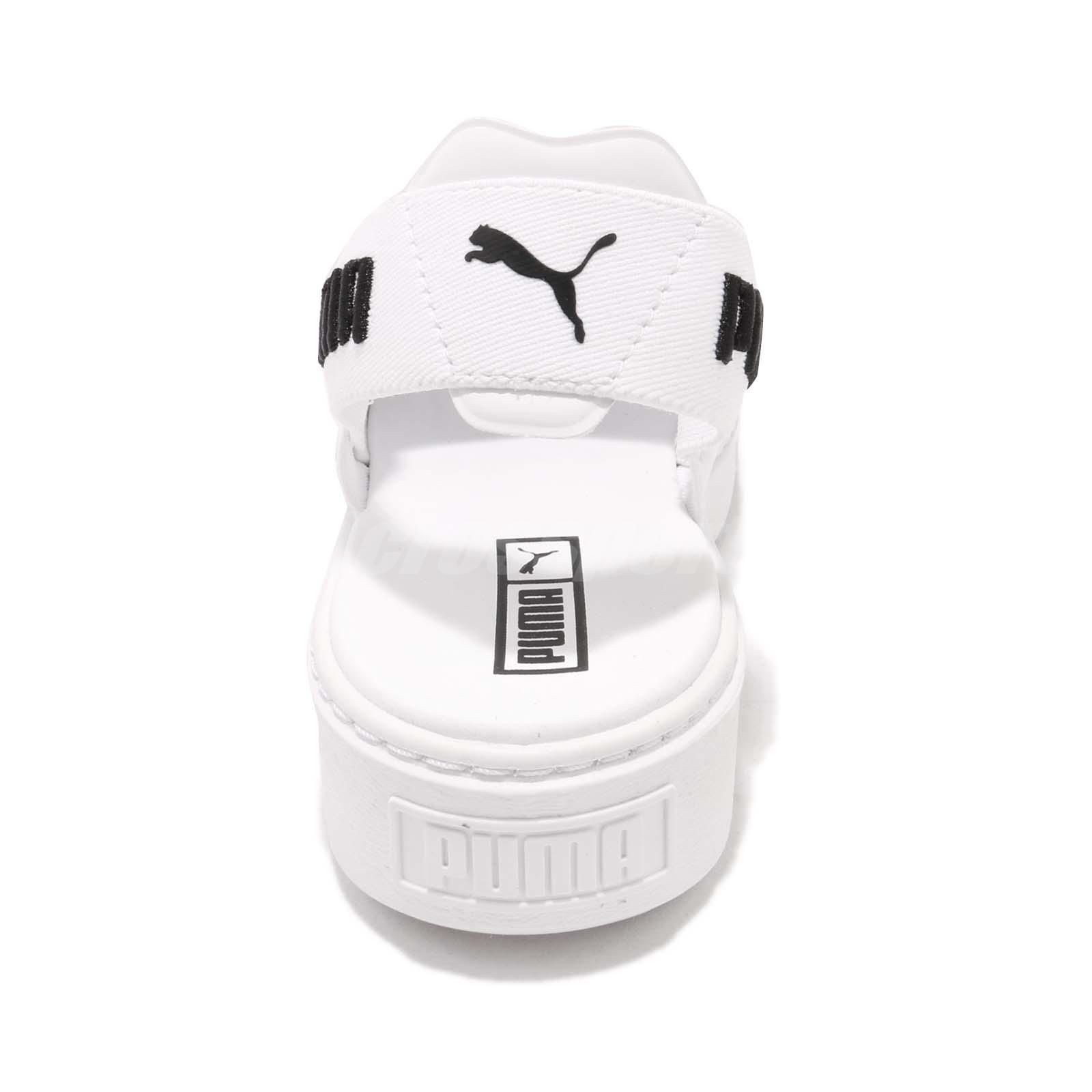34c8e6832e1 Puma Platform Sandal Wns White Black Women Sports Lifestyle Sandal ...