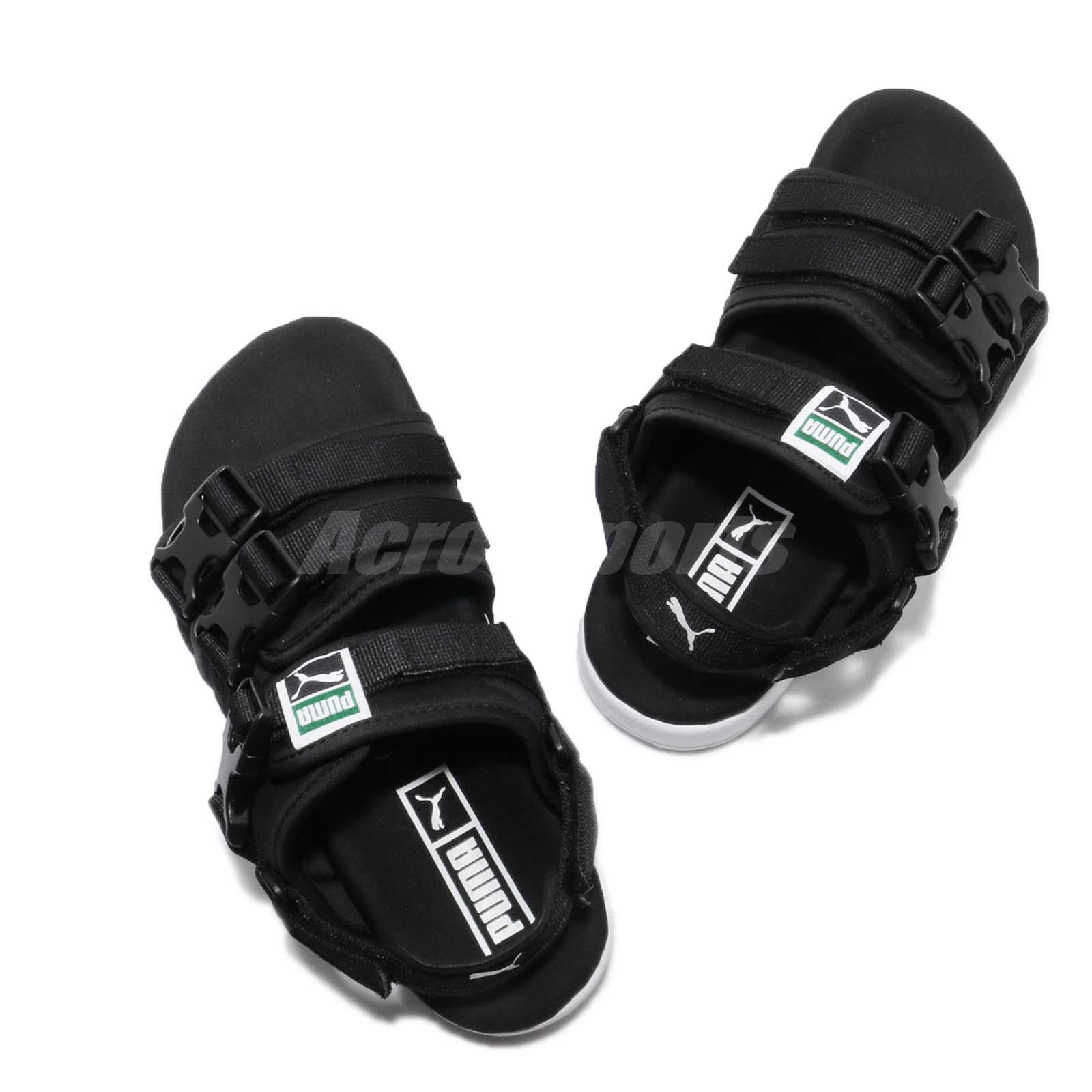 9dd48cddc301 Puma Leadcat YLM Black White One Click Men Lifestyle Sandal Shoes ...