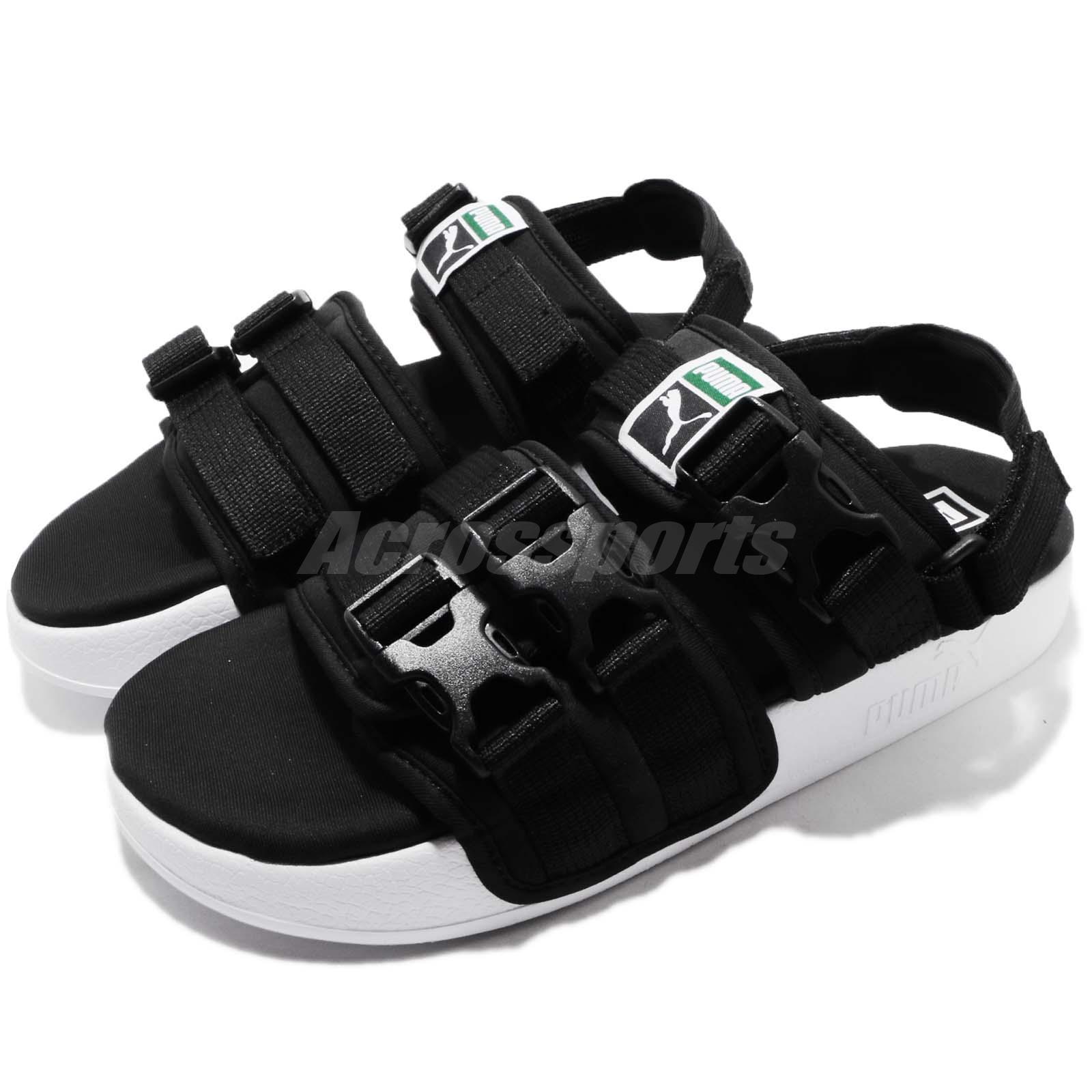5ba65fb17b95 Details about Puma Leadcat YLM Black White One Click Men Lifestyle Sandal  Shoes 365630-01