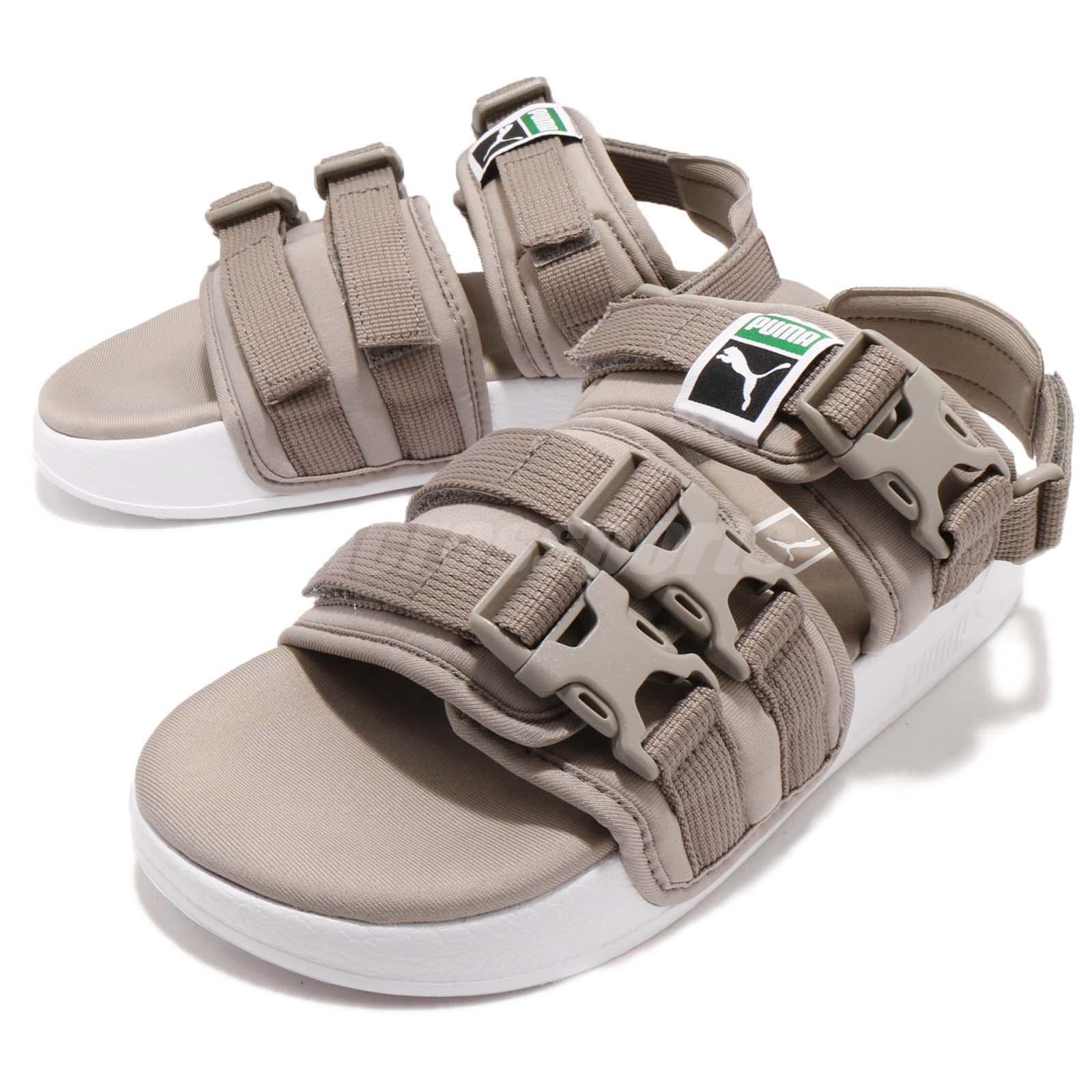 2462a12c762 Puma Leadcat YLM Grey White One Click Men Lifestyle Sandal Shoes ...