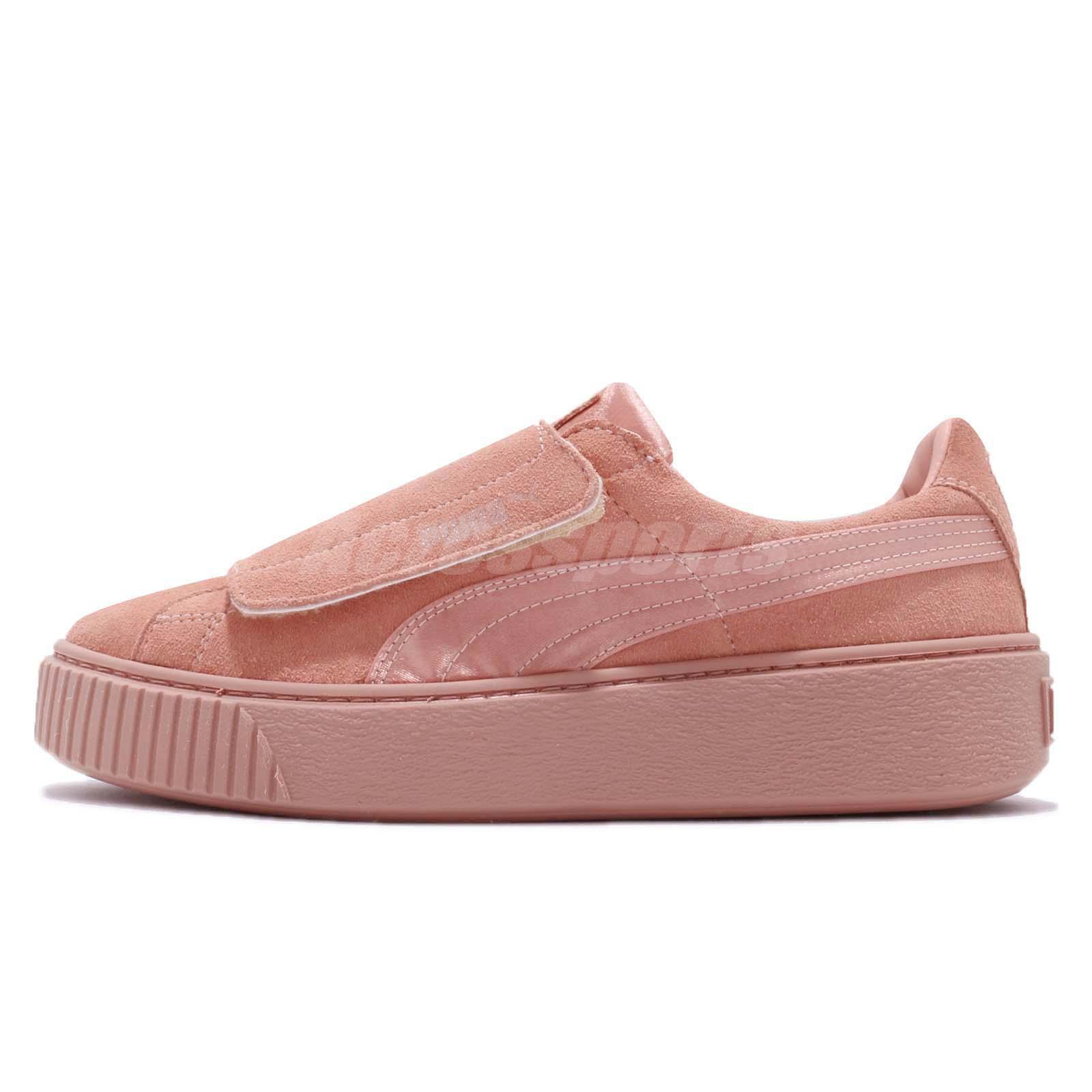 Puma Platform Strap Satin EP Wns Peach Beige Rose Women Shoes Sneakers  366009-01 22115069b